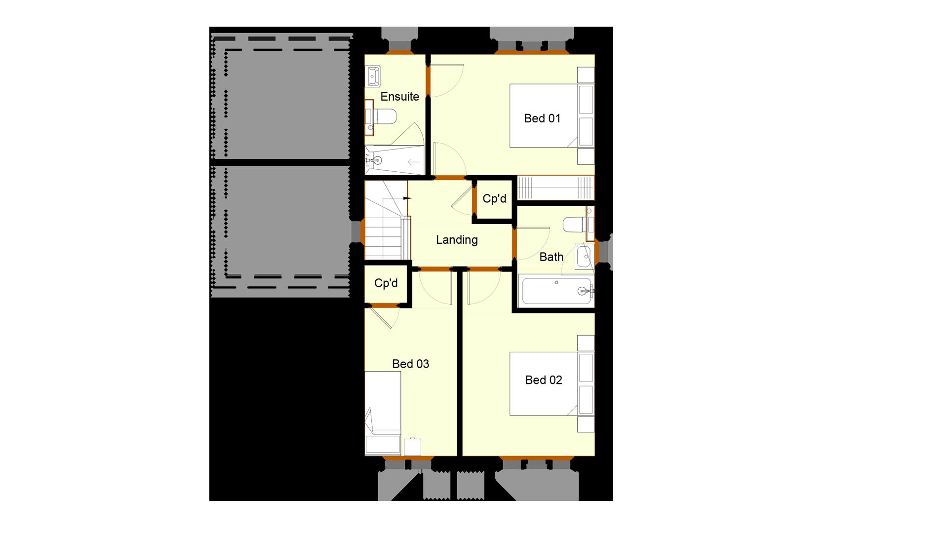 Ivy Court plot 2 first floor sales plan