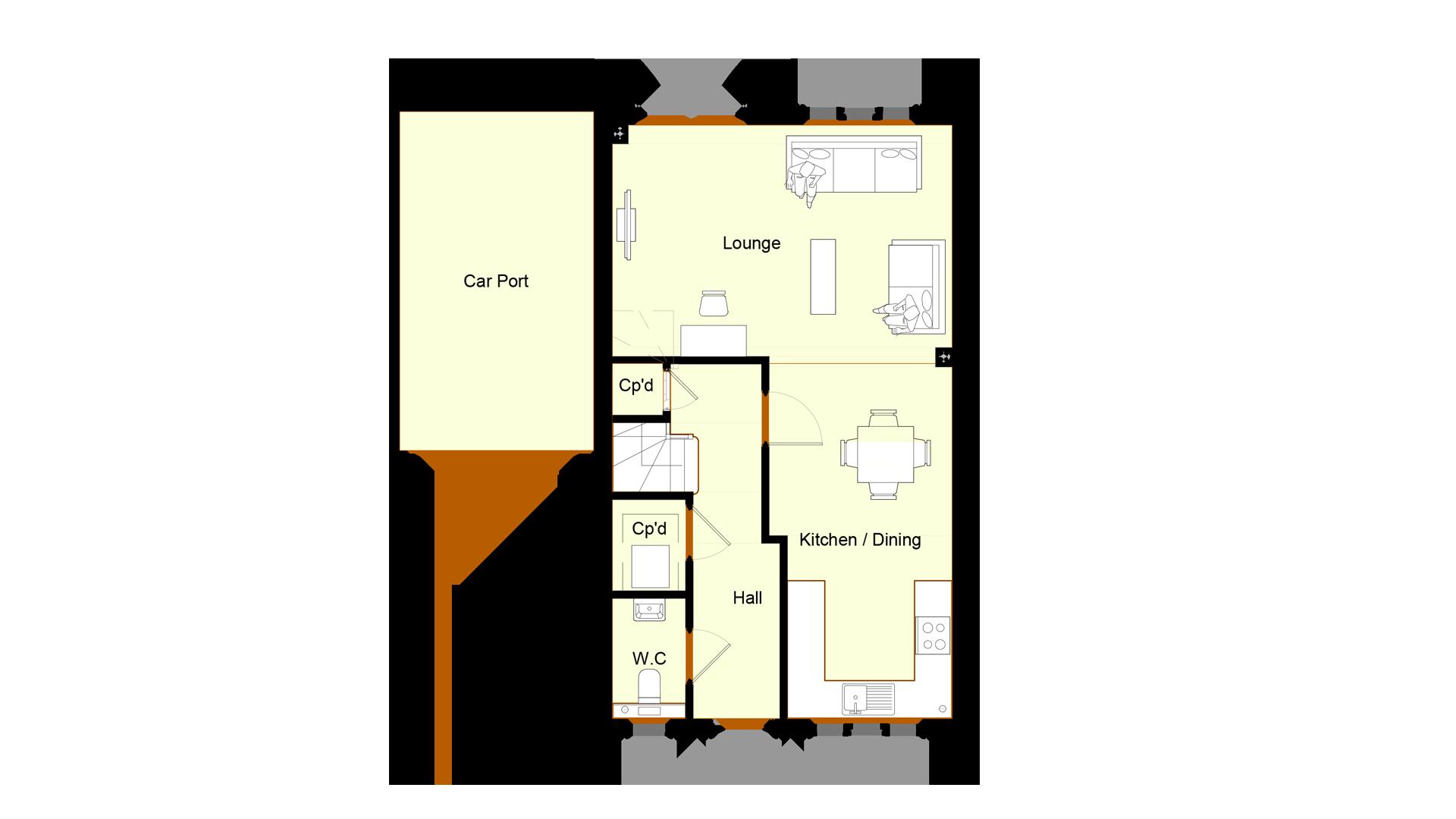 Ivy Court plot 2 ground floor sales plan