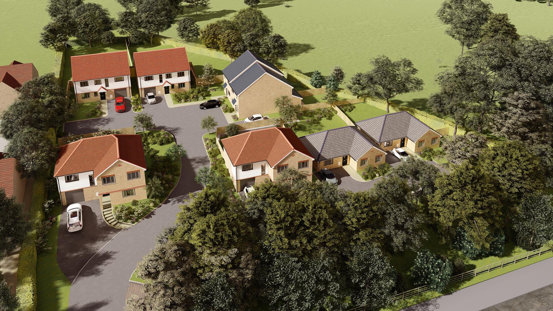 Woodside Court CGI 3D Plan