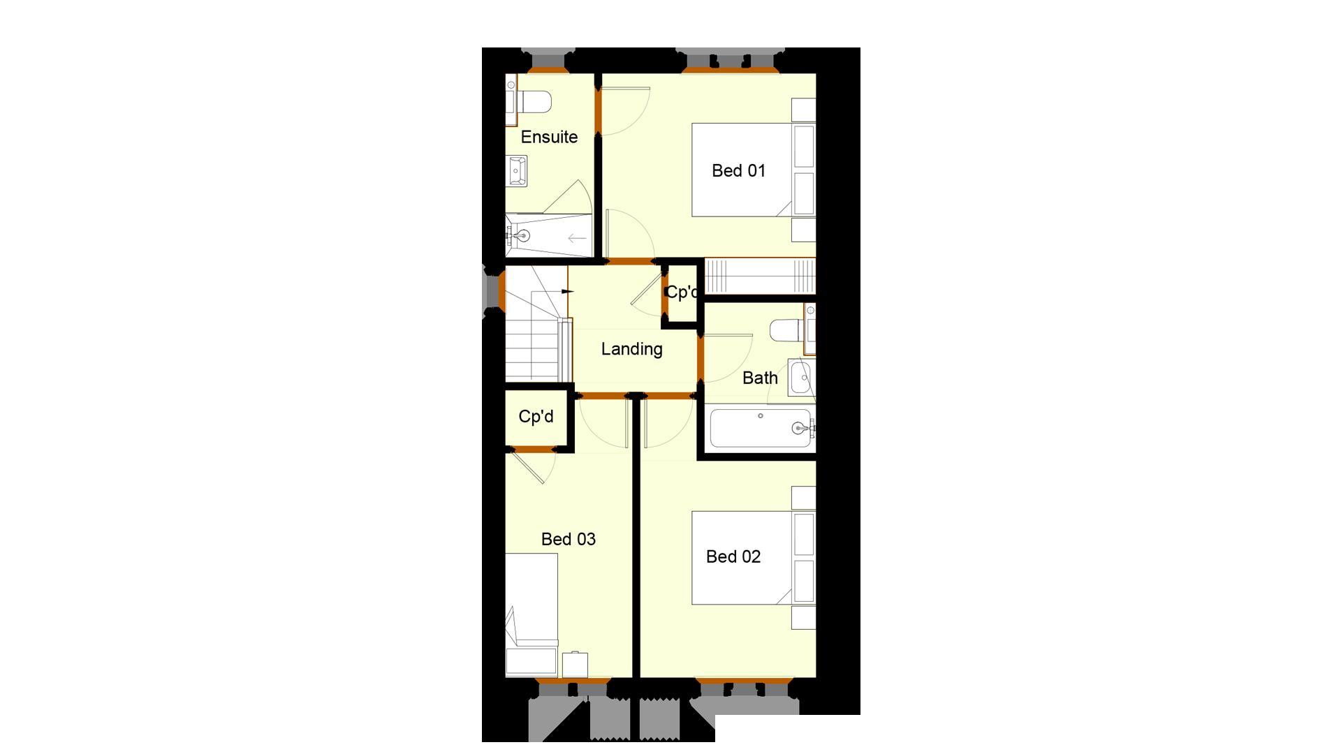 Ivy Court plot 10 first floor sales plan