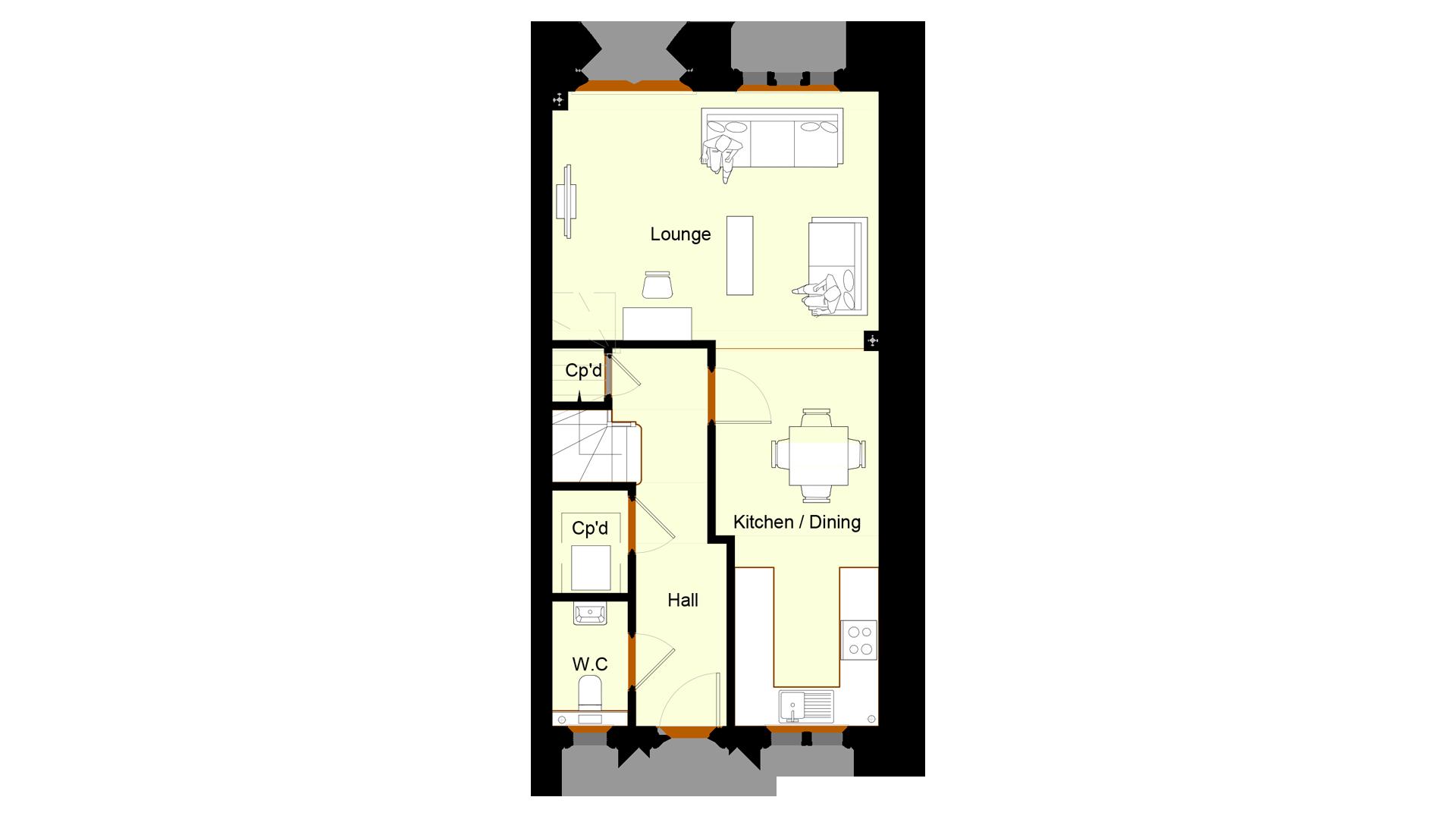 Ivy Court plot 10 ground floor sales plan
