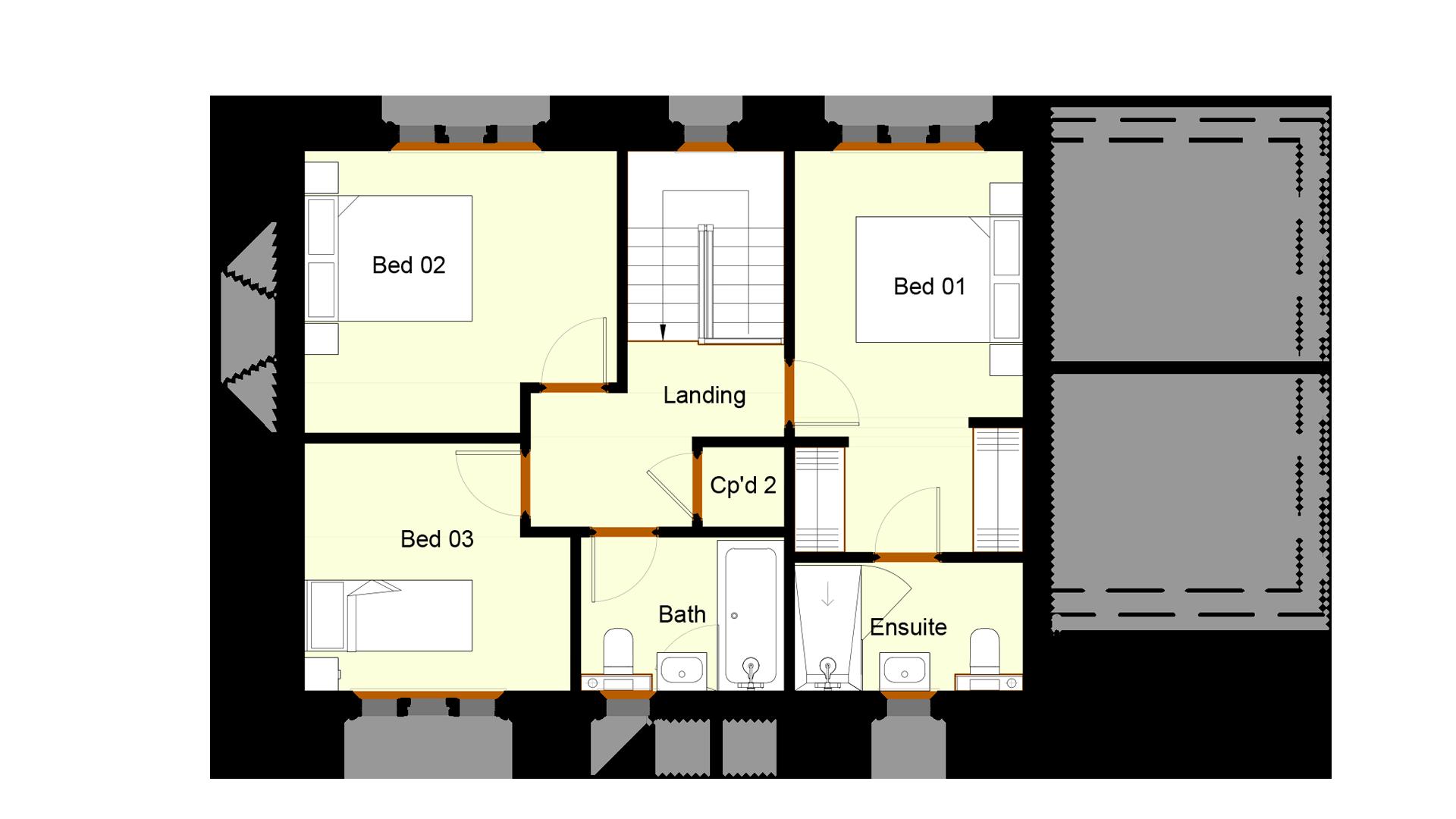 Ivy Court plot 11 first floor sales plan