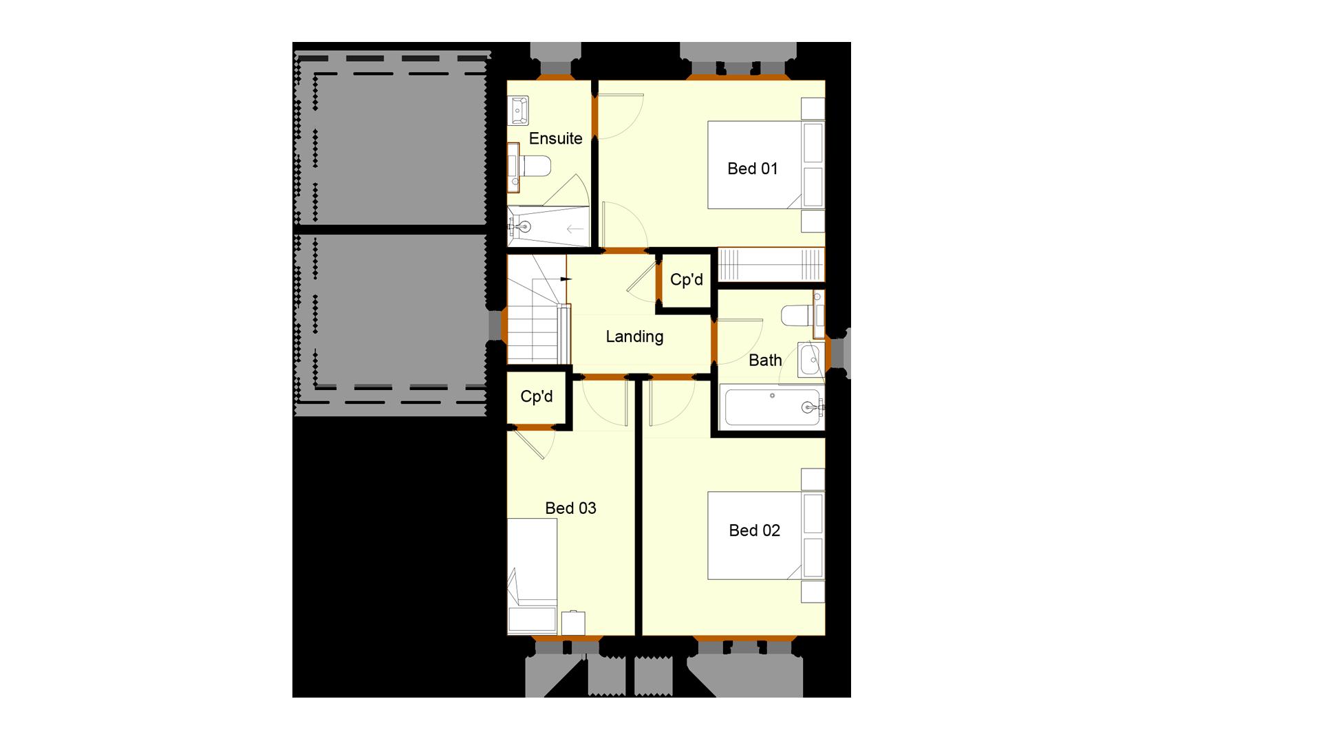 Ivy Court plot 12 first floor sales plan