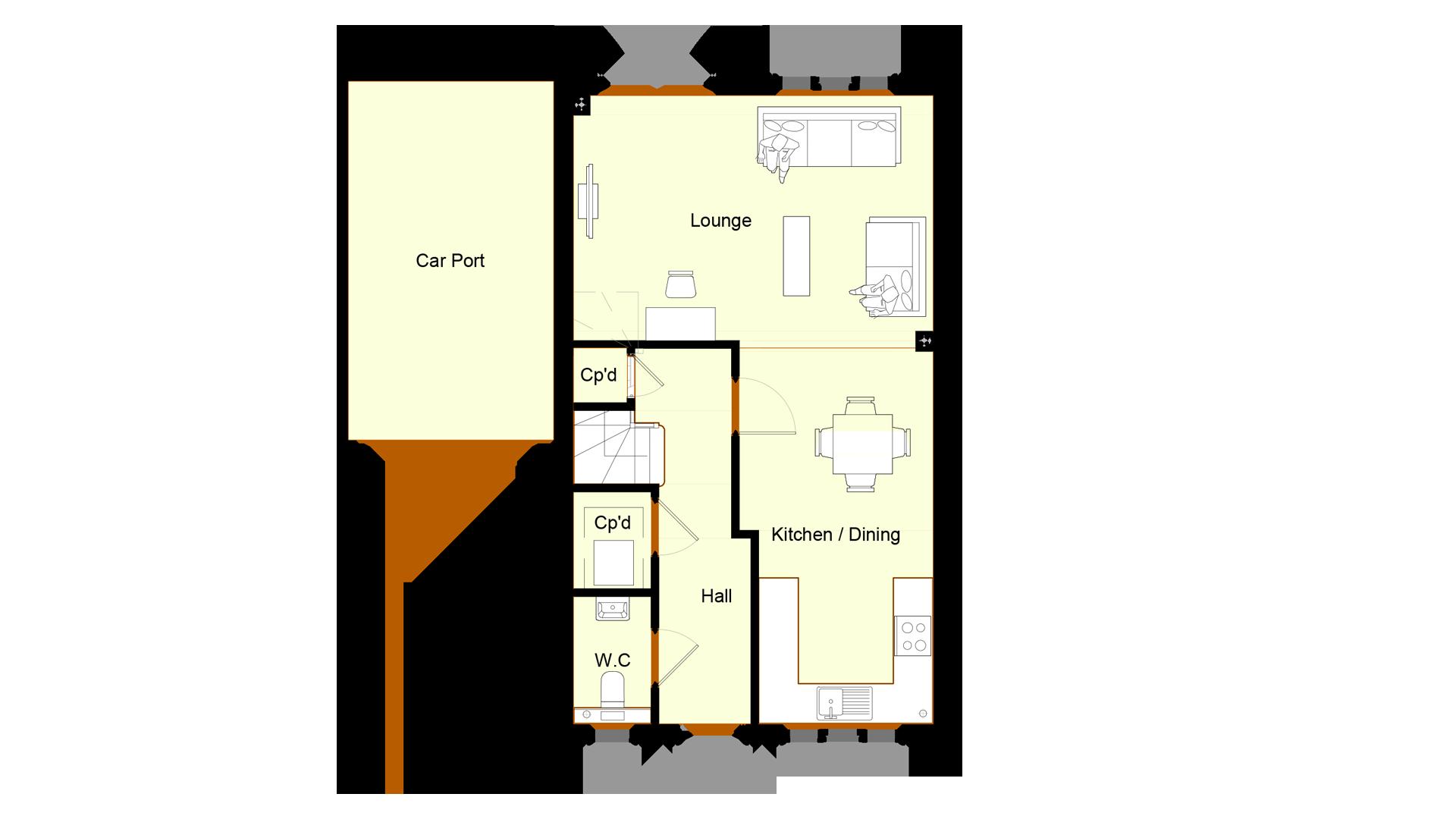 Ivy Court plot 12 ground floor sales plan
