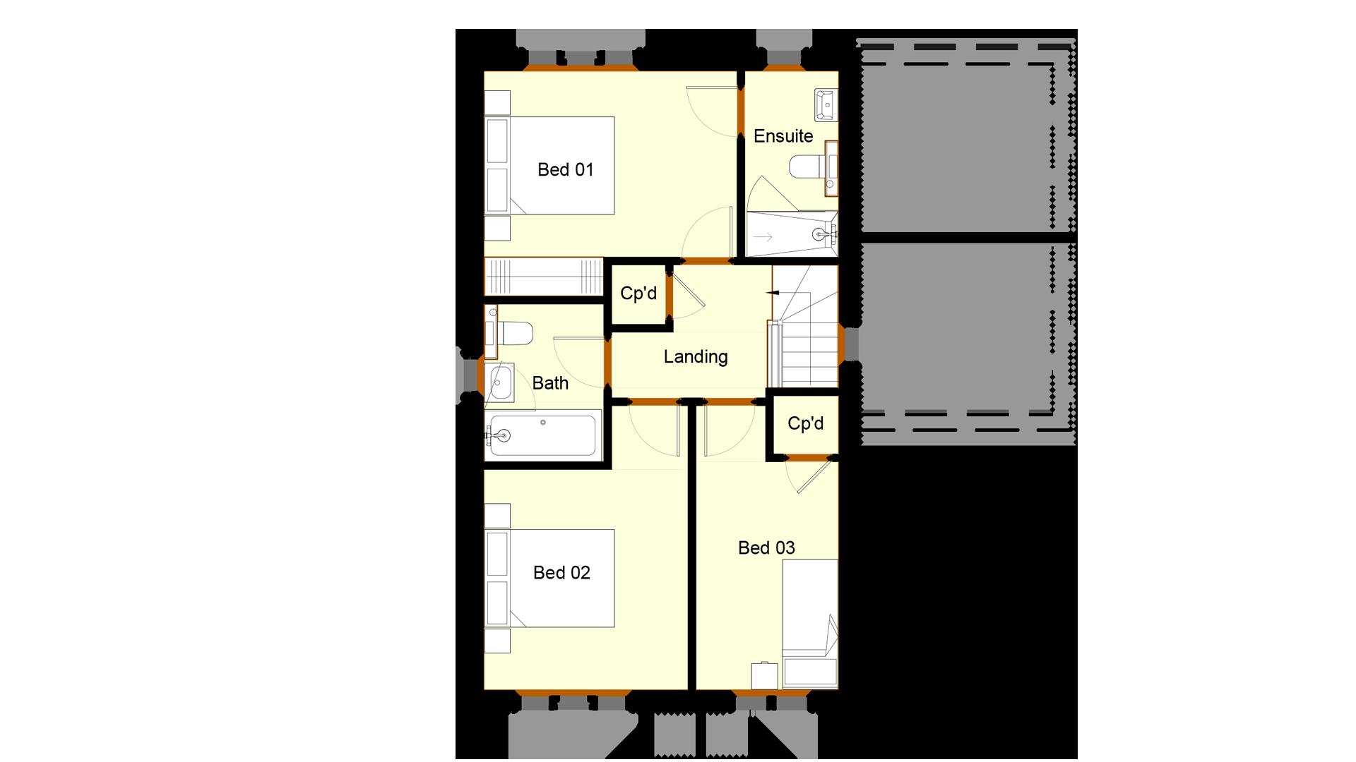 Ivy Court plot 3 first floor sales plan