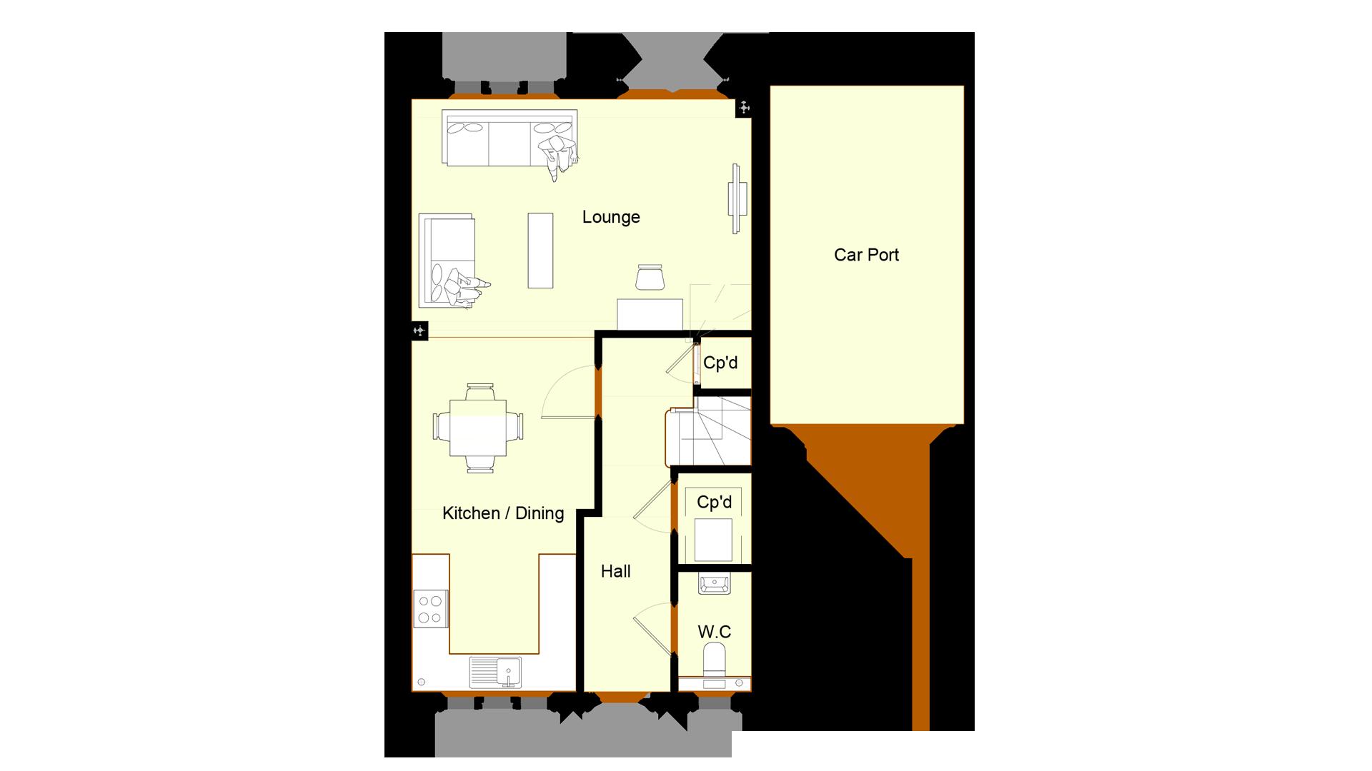 Ivy Court plot 3 ground floor sales plan