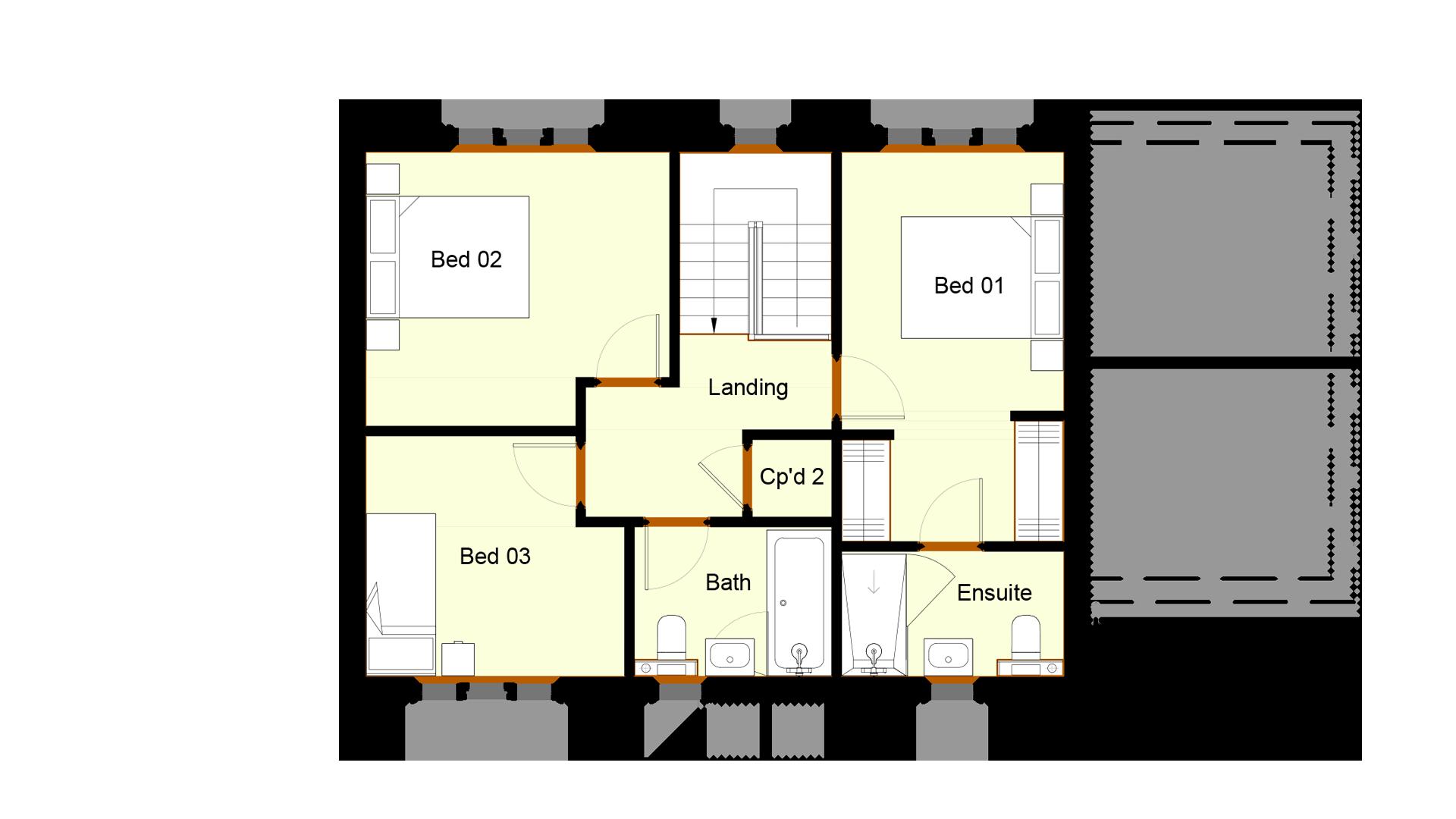 Ivy Court plot 4 first floor sales plan