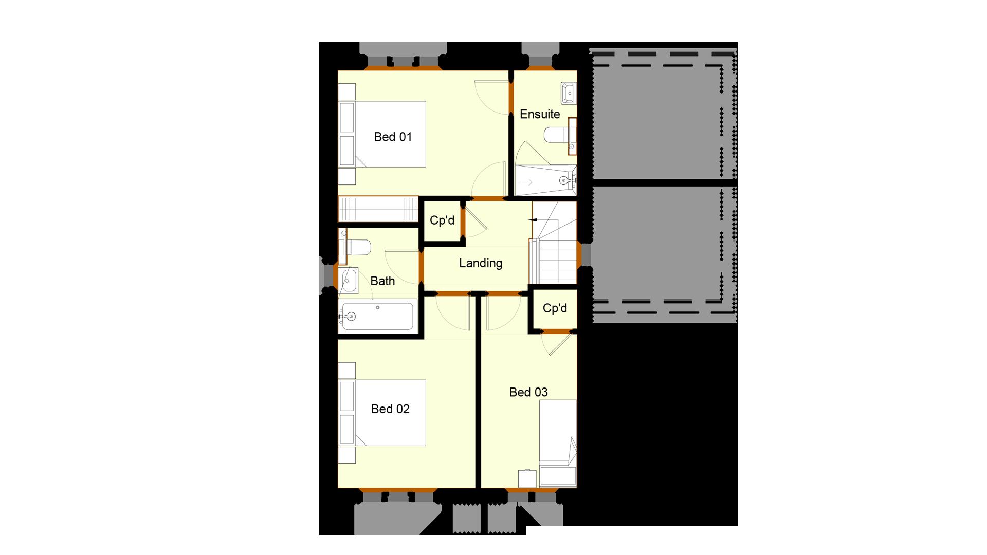 Ivy Court plot 5 first floor sales plan
