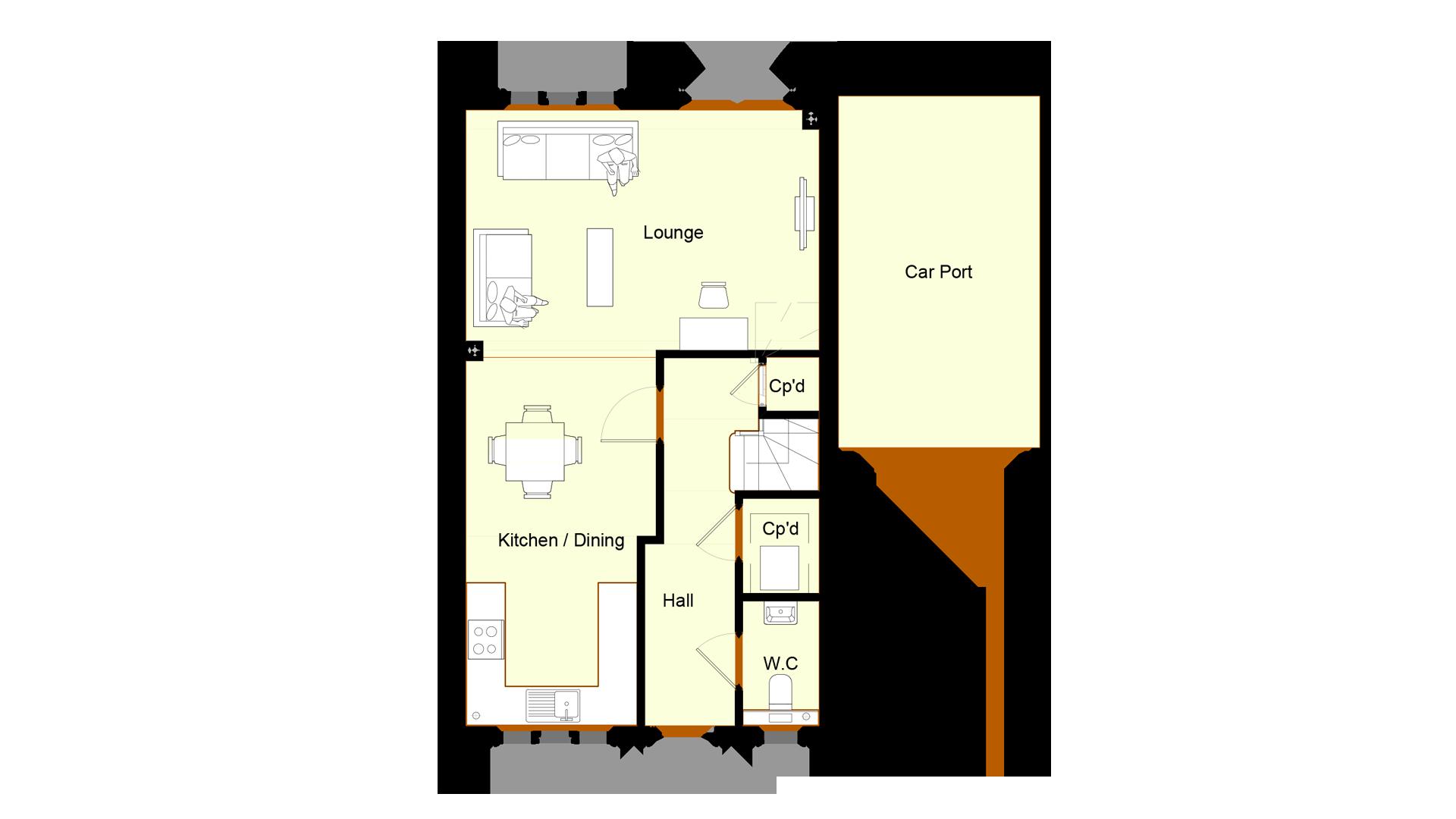 Ivy Court plot 5 ground floor sales plan