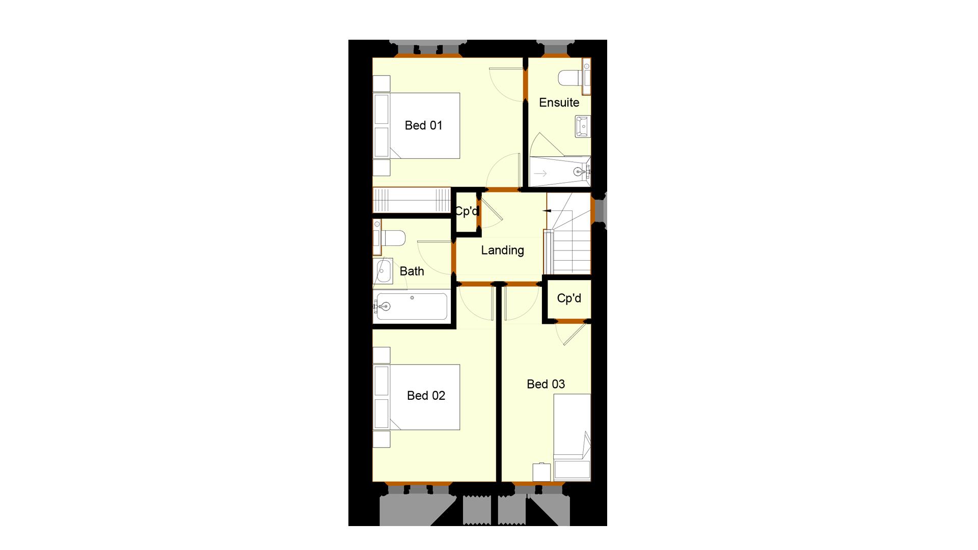Ivy Court plot 6 first floor sales plan
