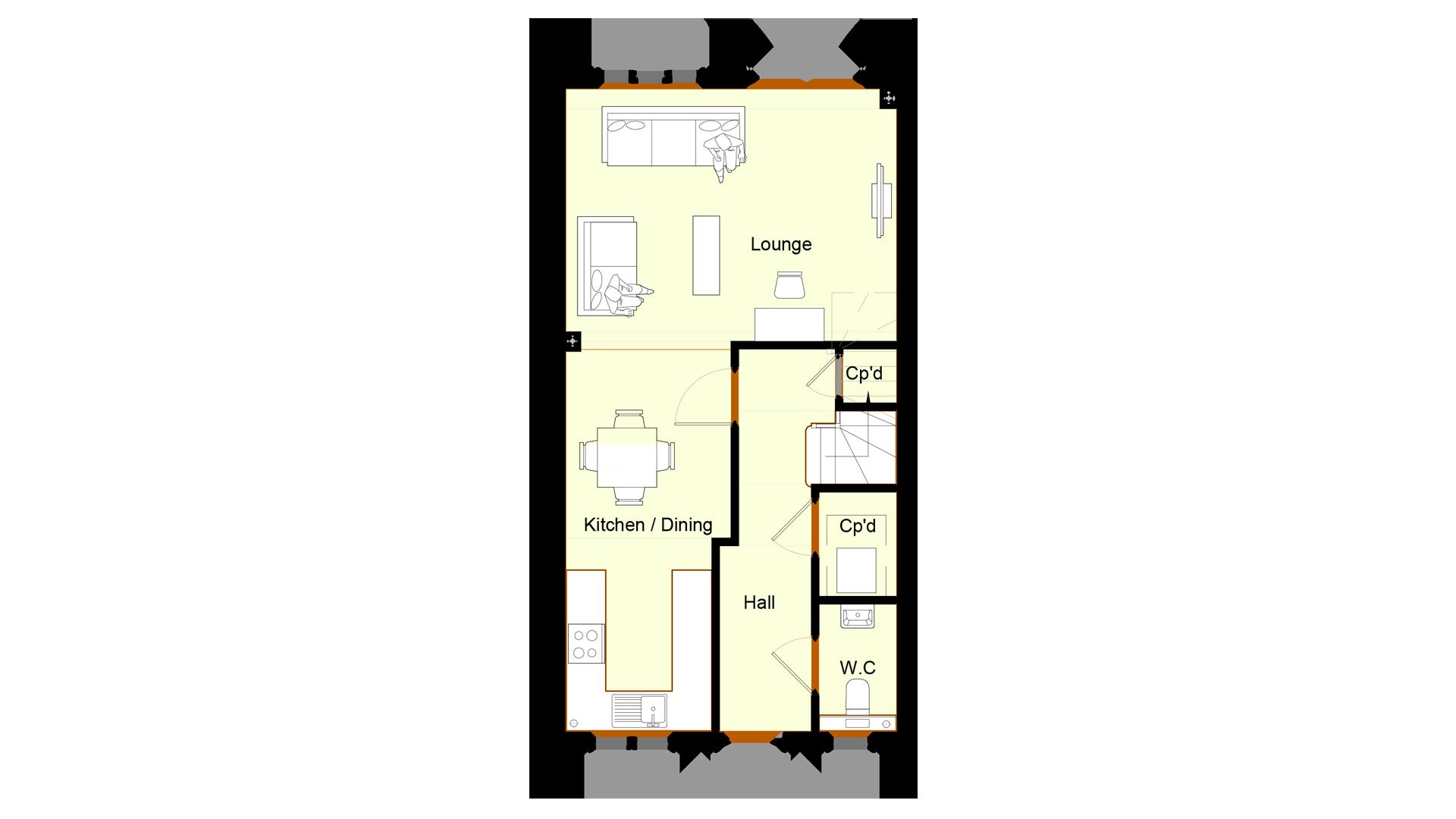 Ivy Court plot 6 ground floor sales plan