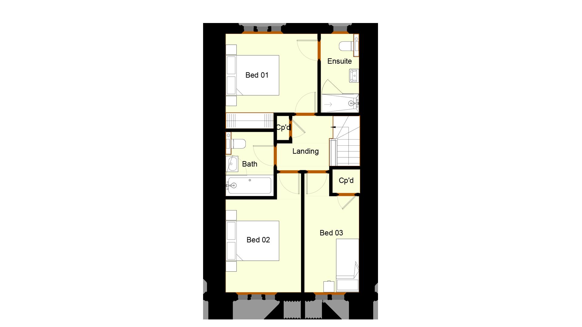 Ivy Court plot 7 first floor sales plan