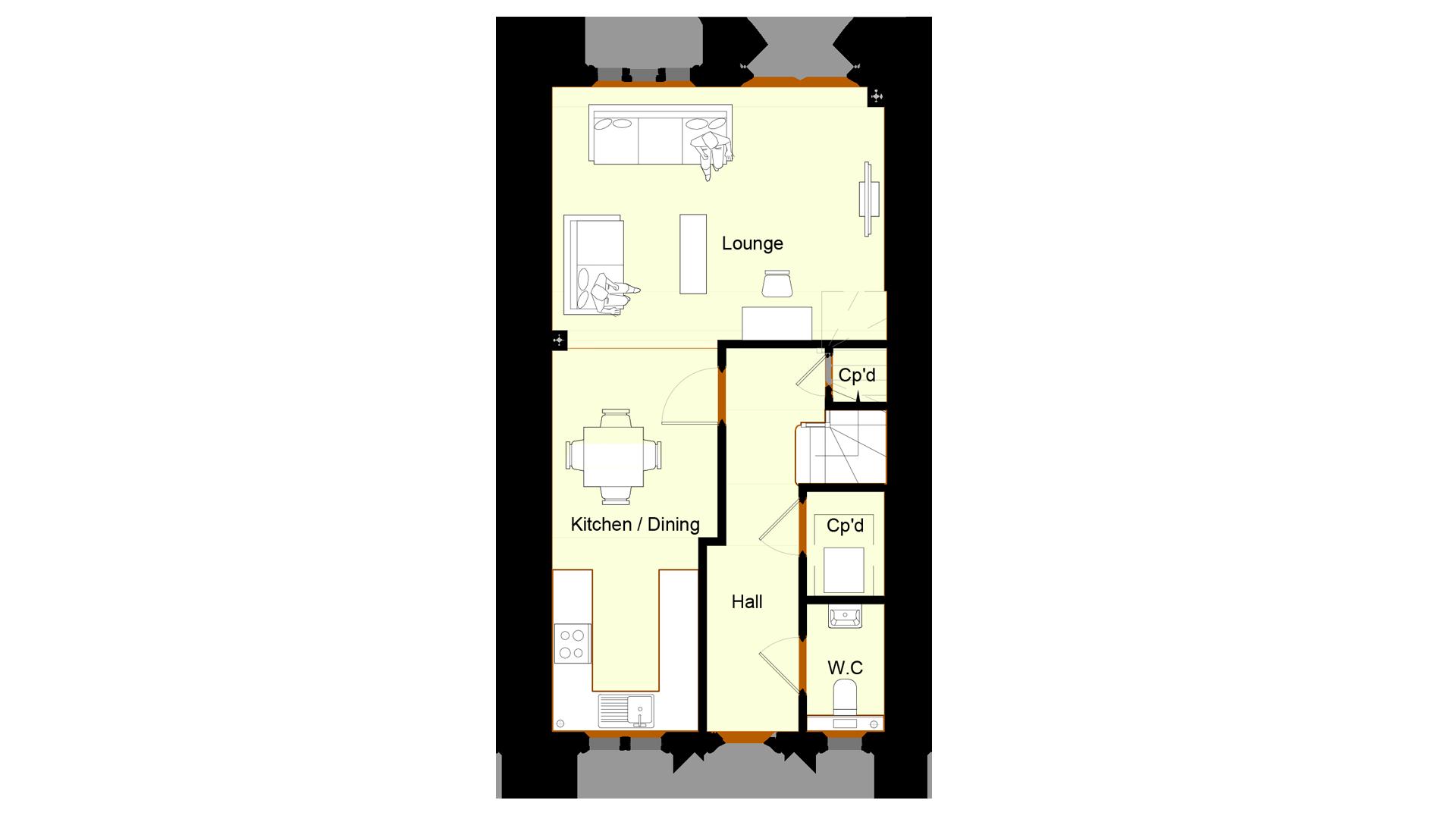 Ivy Court plot 7 ground floor sales plan