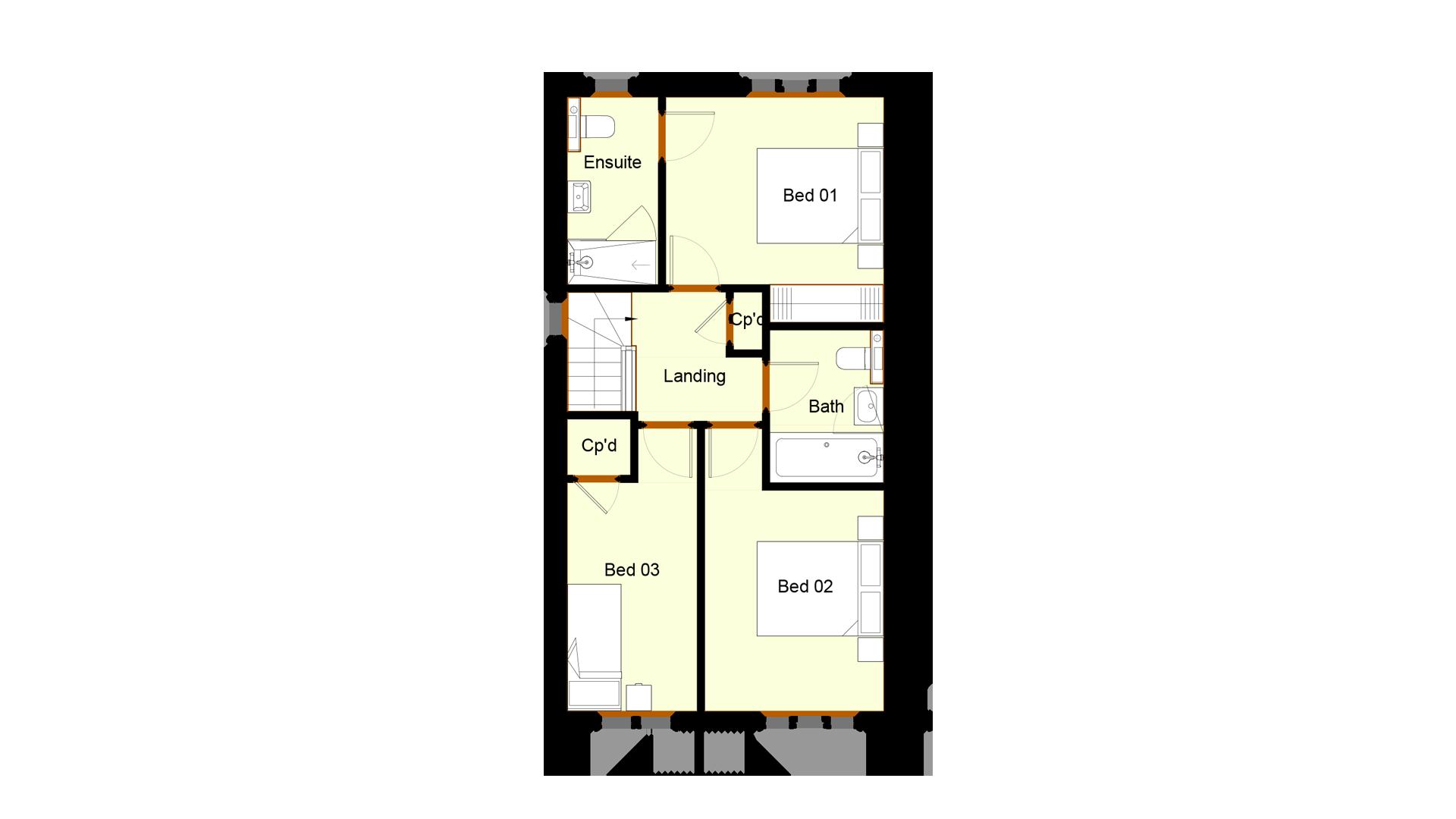 Ivy Court plot 8 first floor sales plan