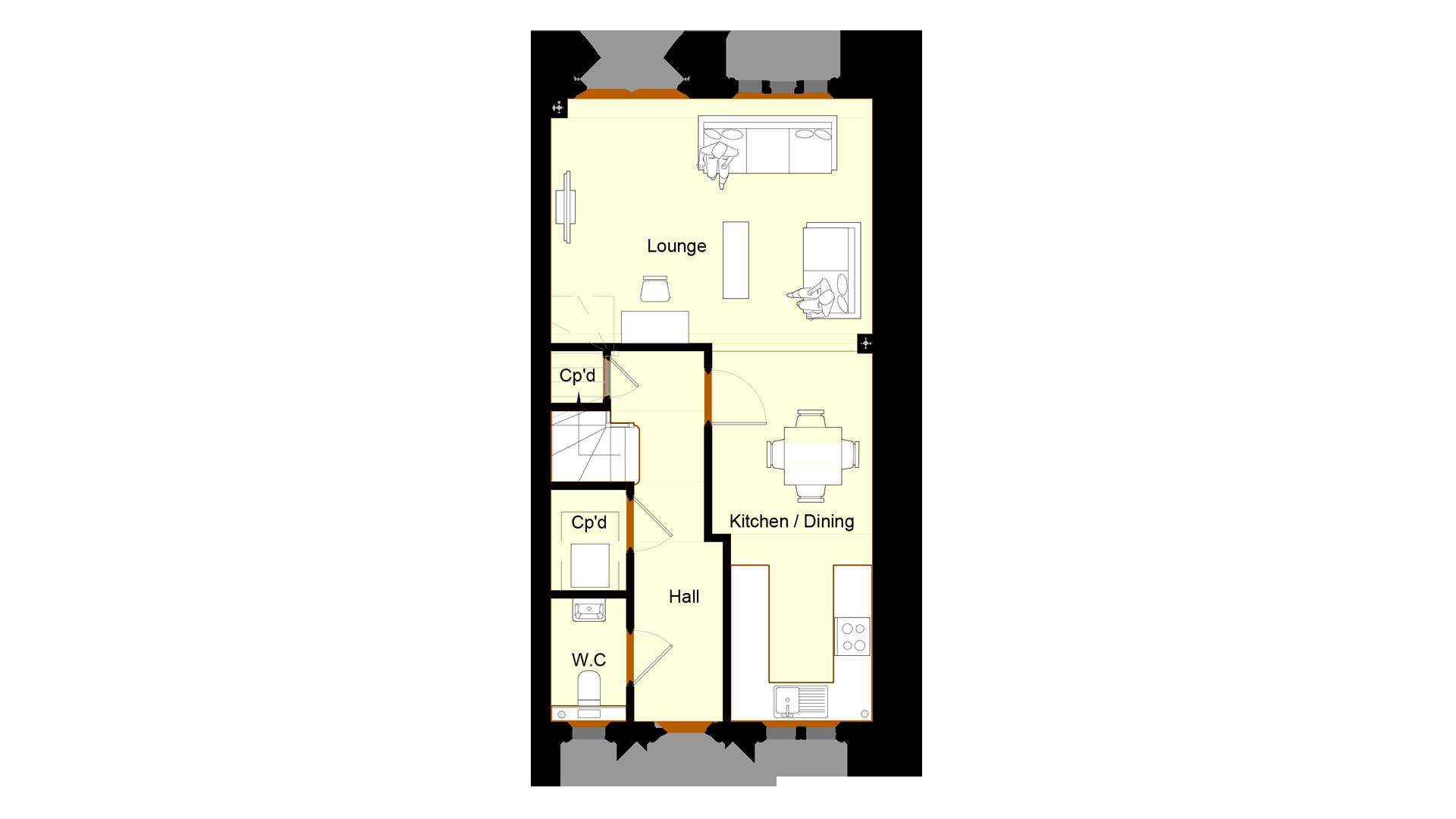Ivy Court plot 8 ground floor sales plan