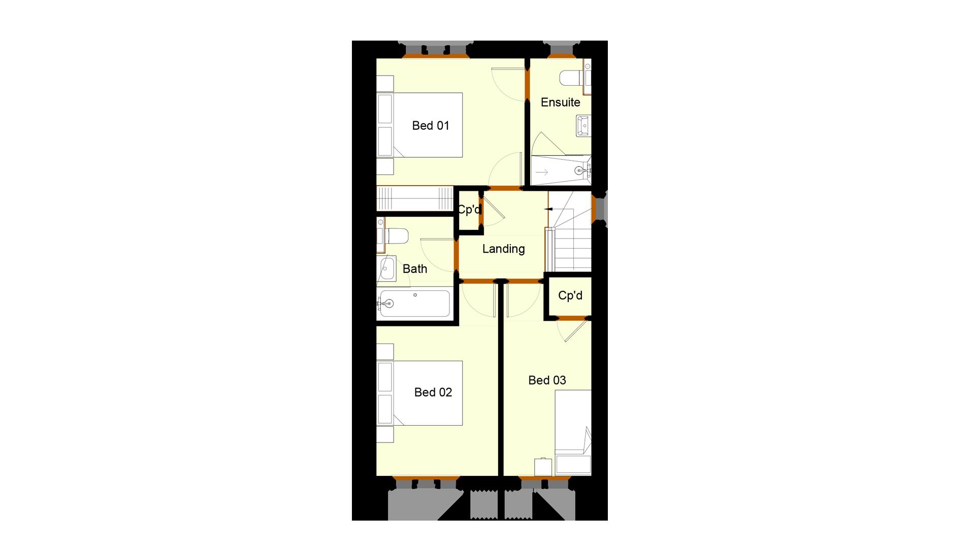 Ivy Court plot 9 first floor sales plan