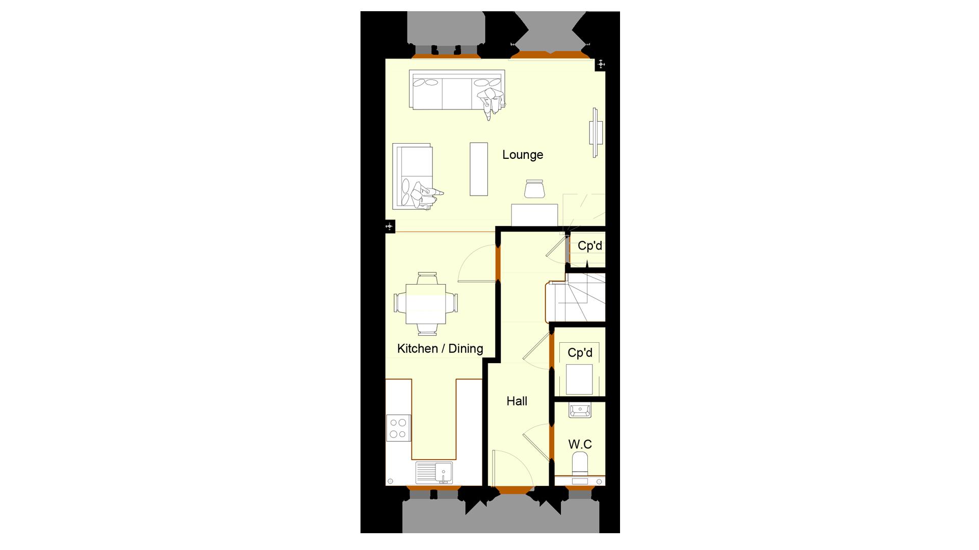Ivy Court plot 9 ground floor sales plan
