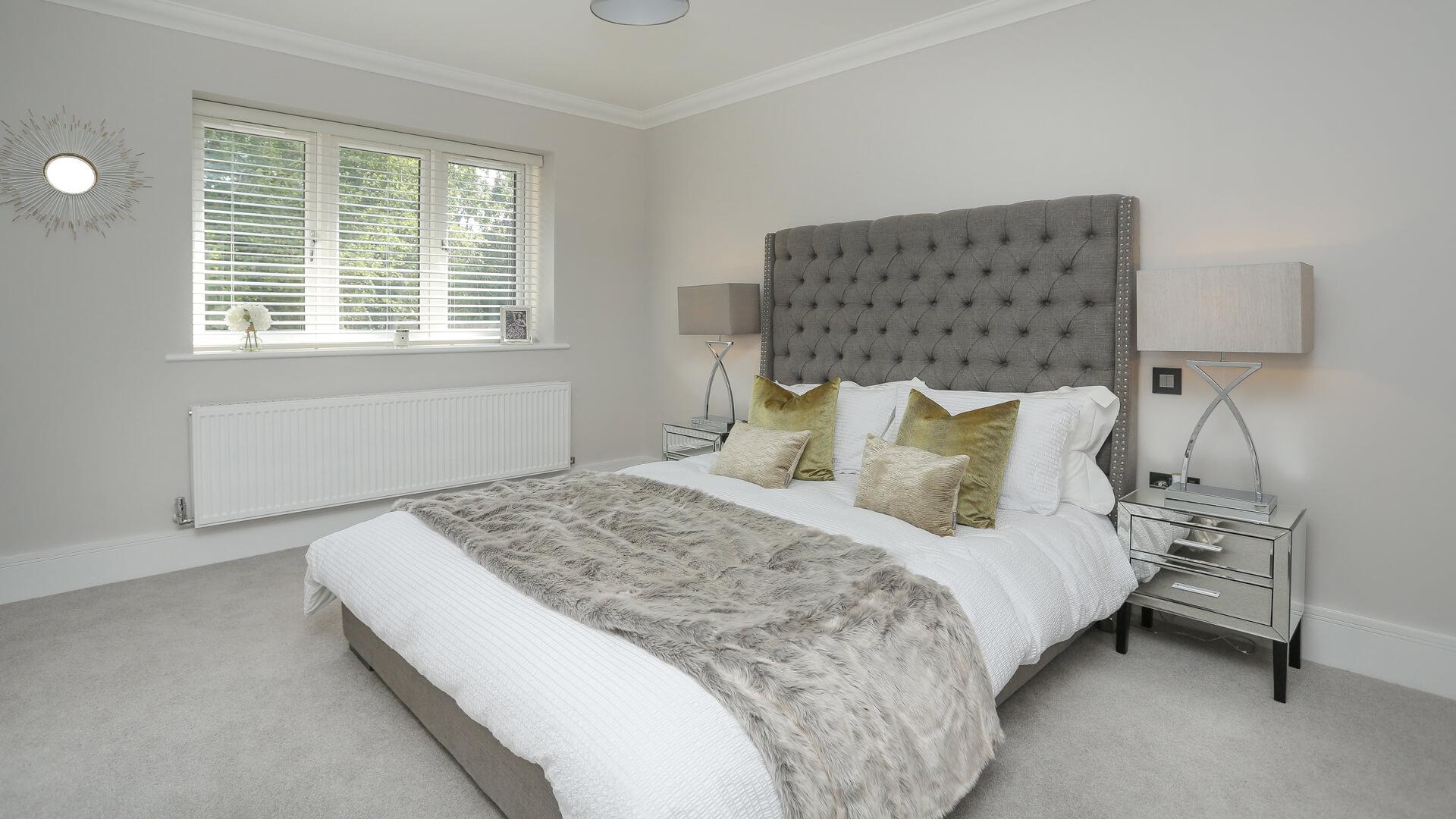 Master bedroom at Woodside court.
