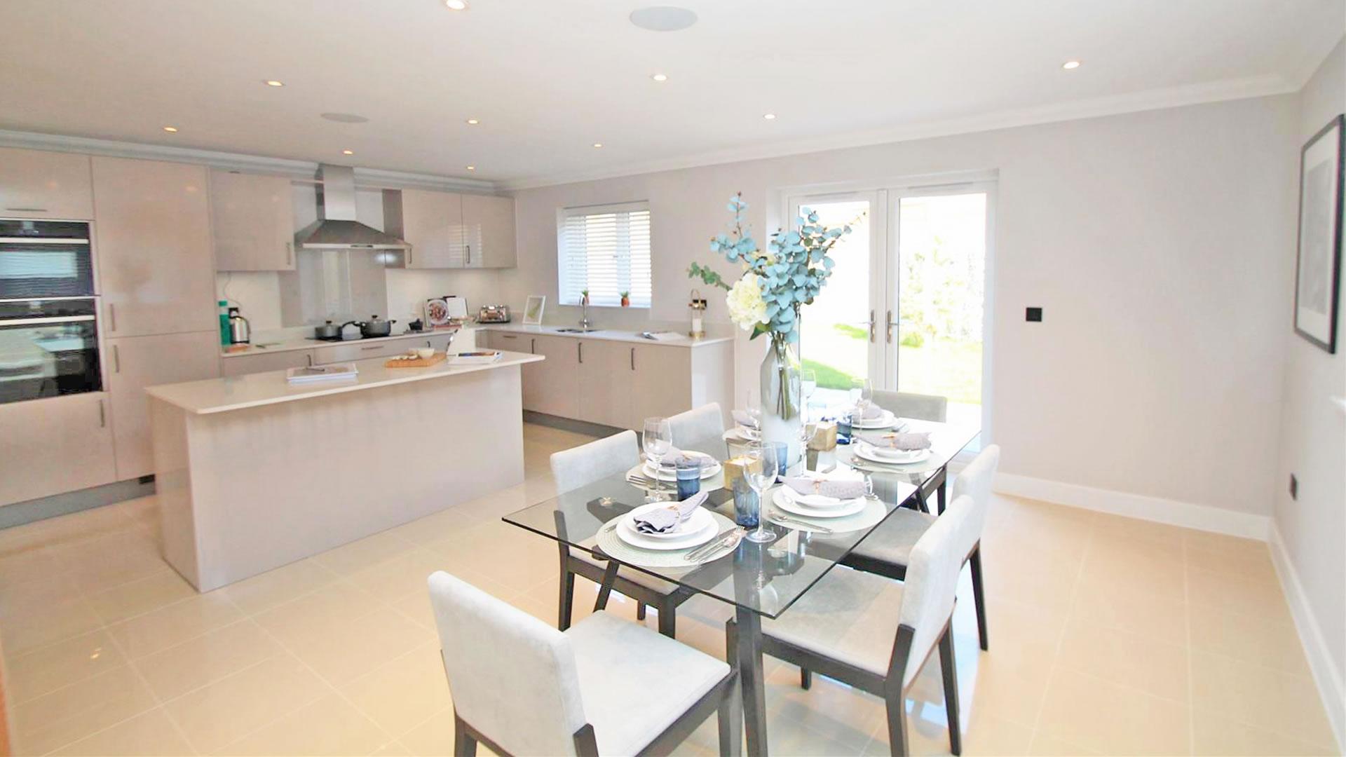 Castor Park kitchen and living room