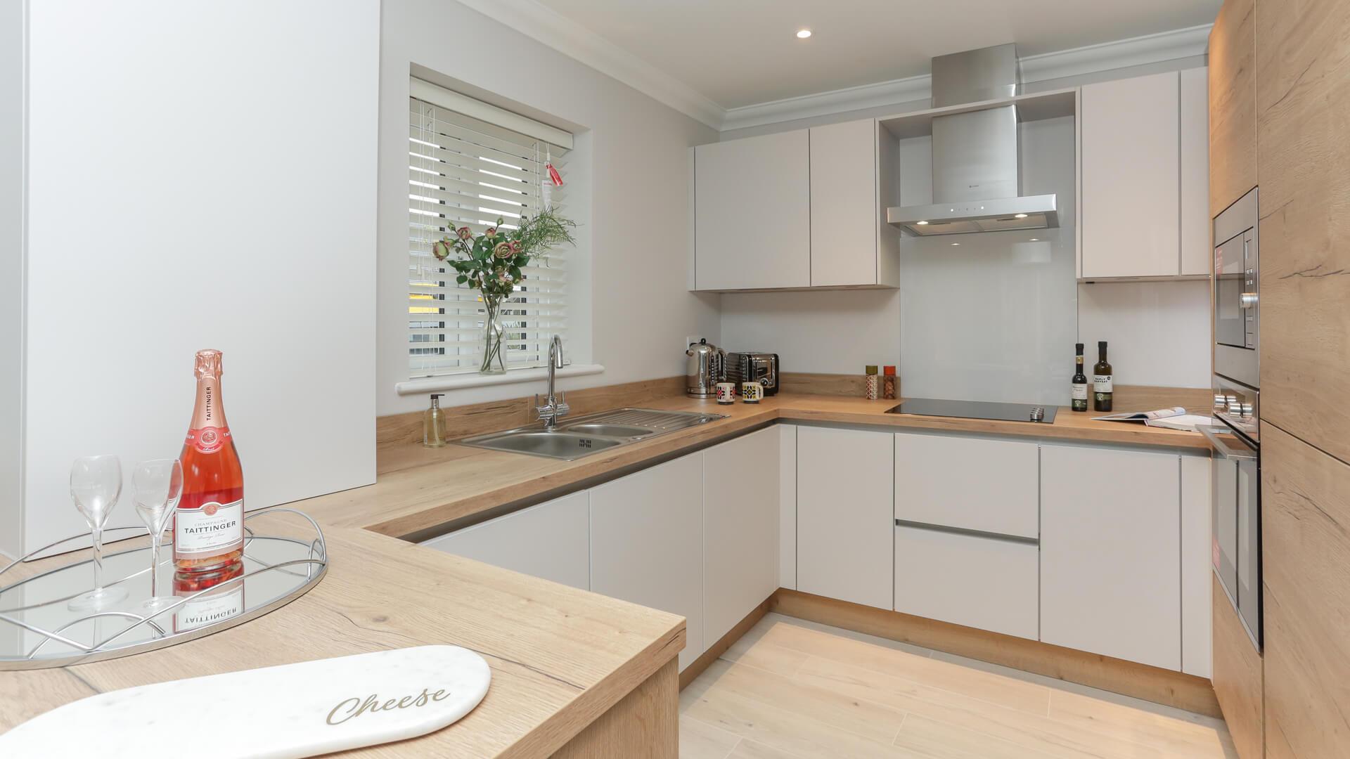 Fitted kitchen at Plot 5 Churchfields
