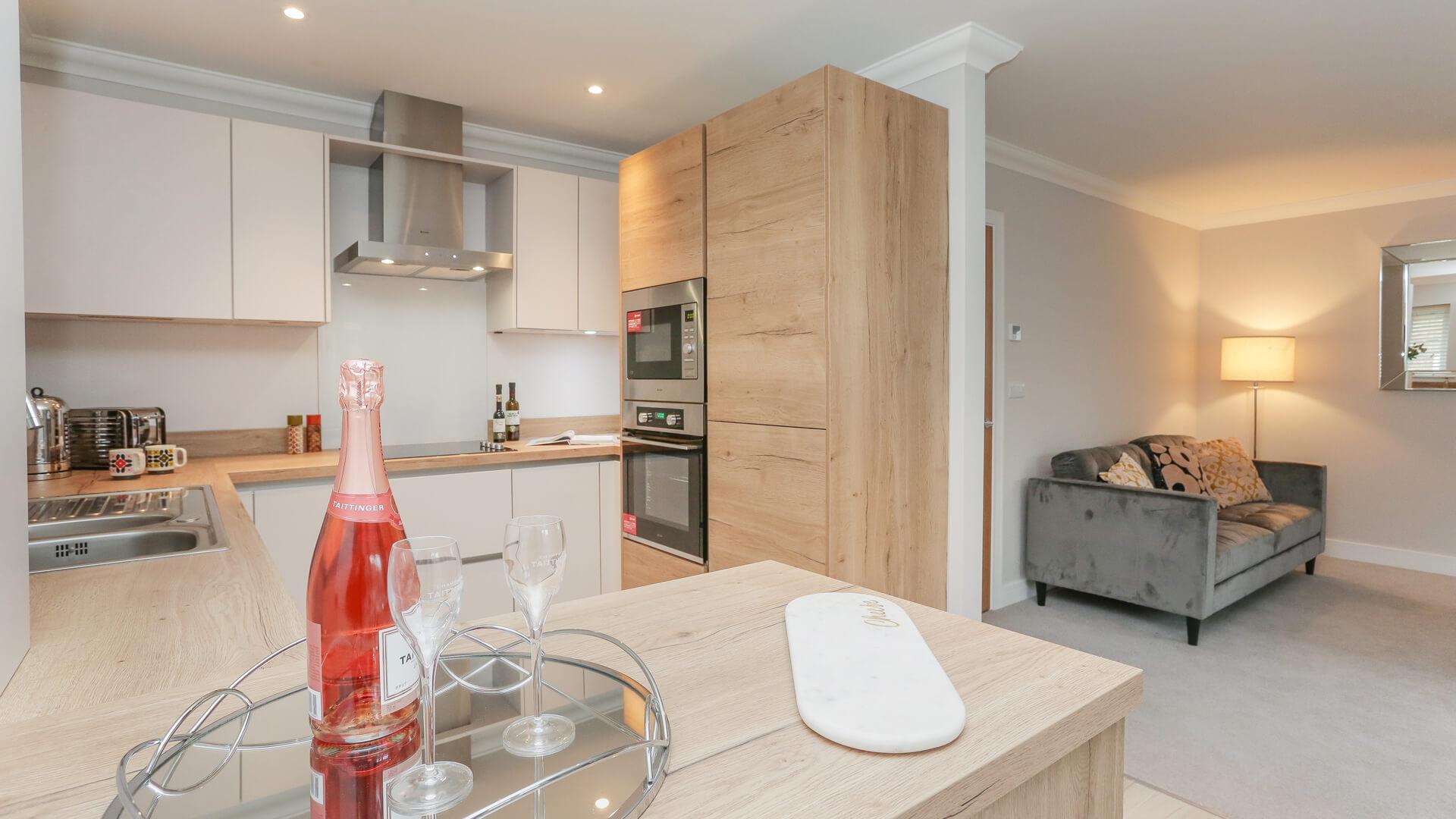 Kitchen Living area at Churchfields.