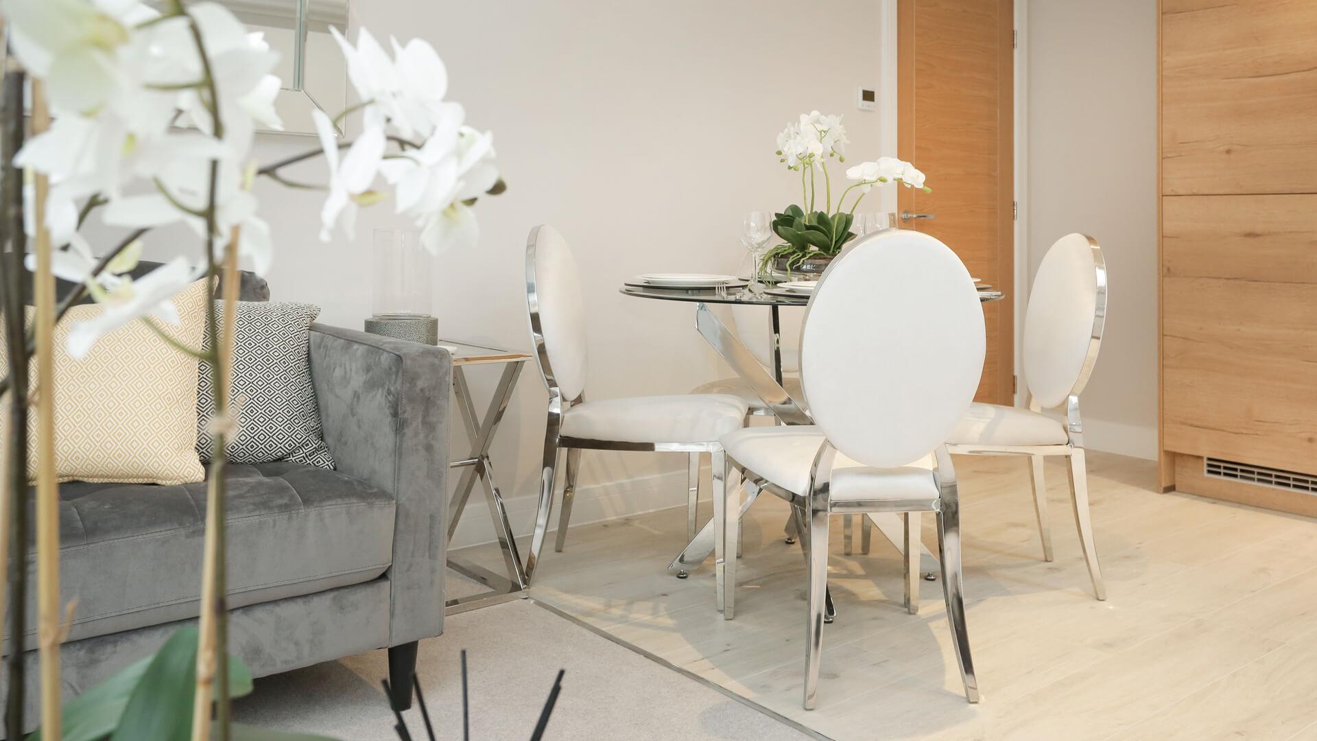 Dining room furniture at Plot3 Churchfields
