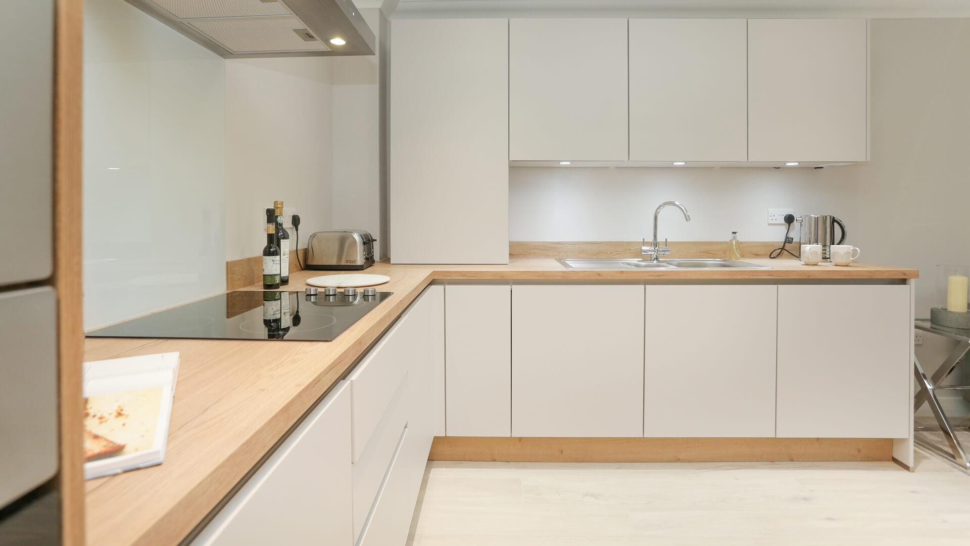 Fitted kitchen at Plot 4 Churchfields