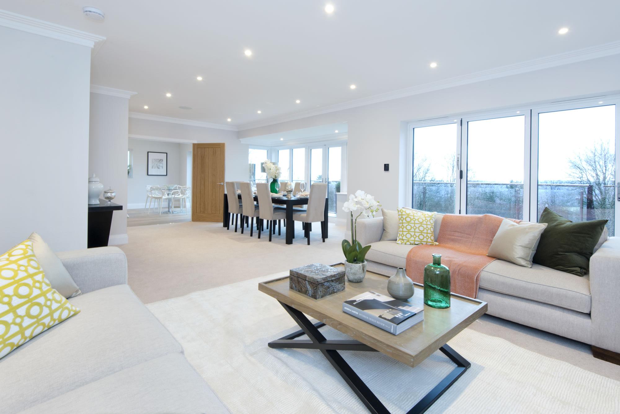 Gables Park show home living room