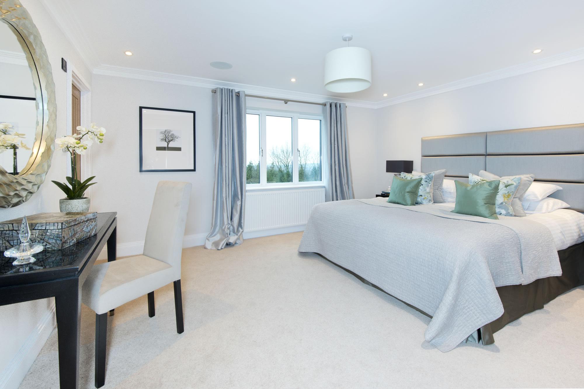 Gables Park show home master bedroom