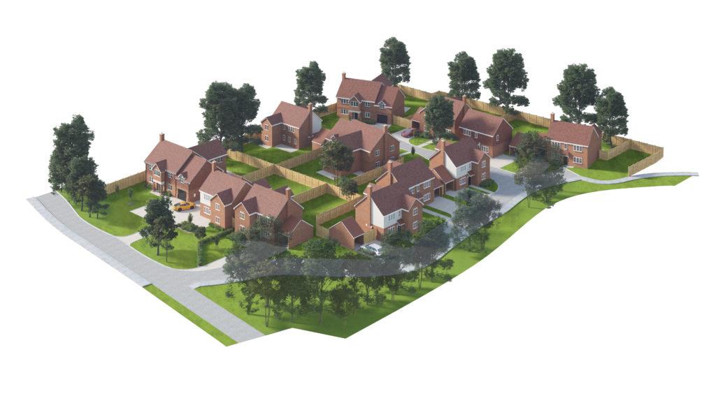 CGI of Langton Gardens site