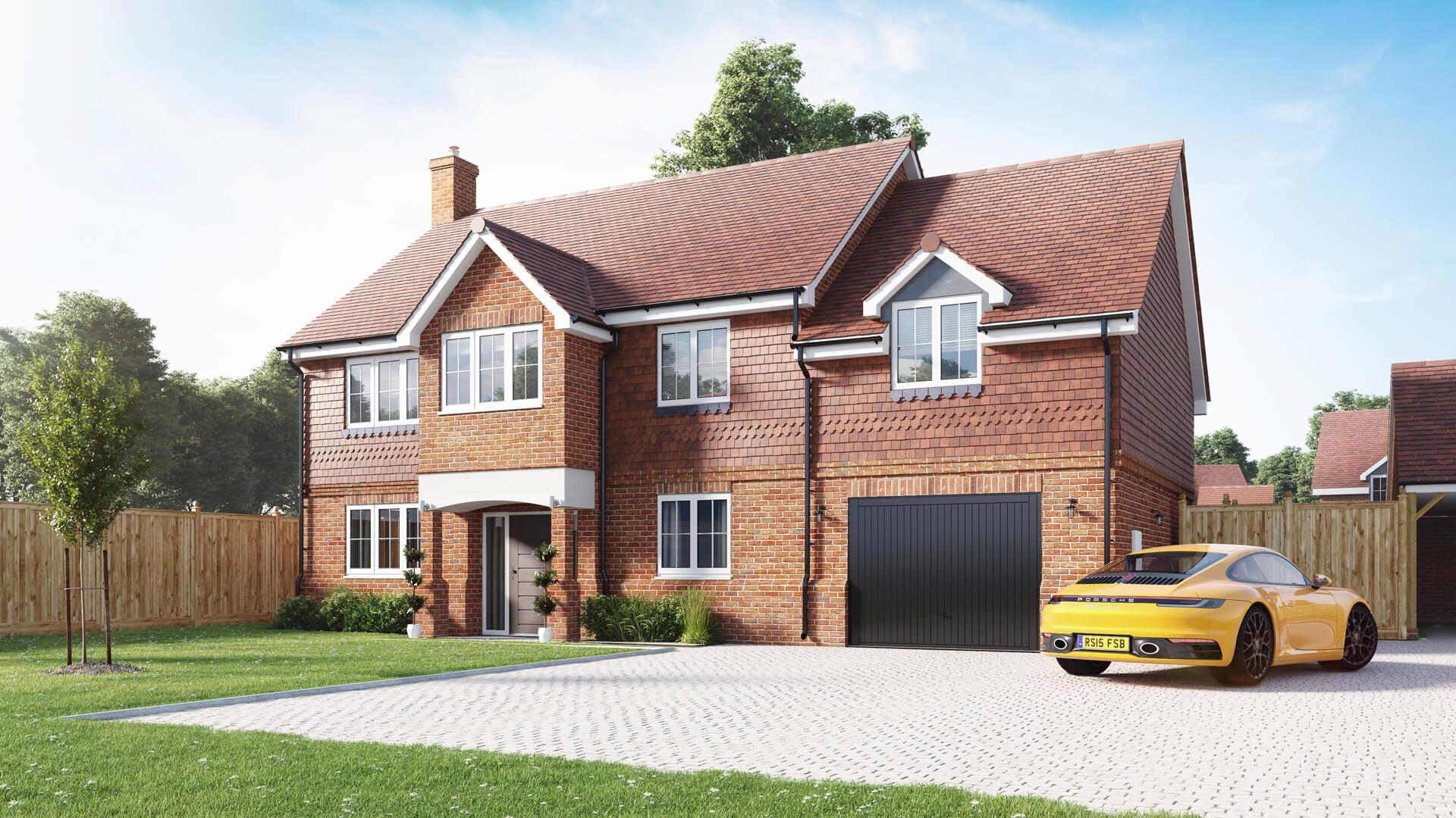 CGI of a Clarendon Custom Build Home at Langton Gardenss