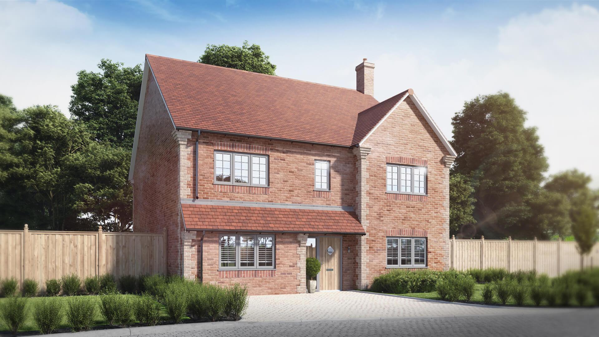 CGI of a new Clarendon custom-build house
