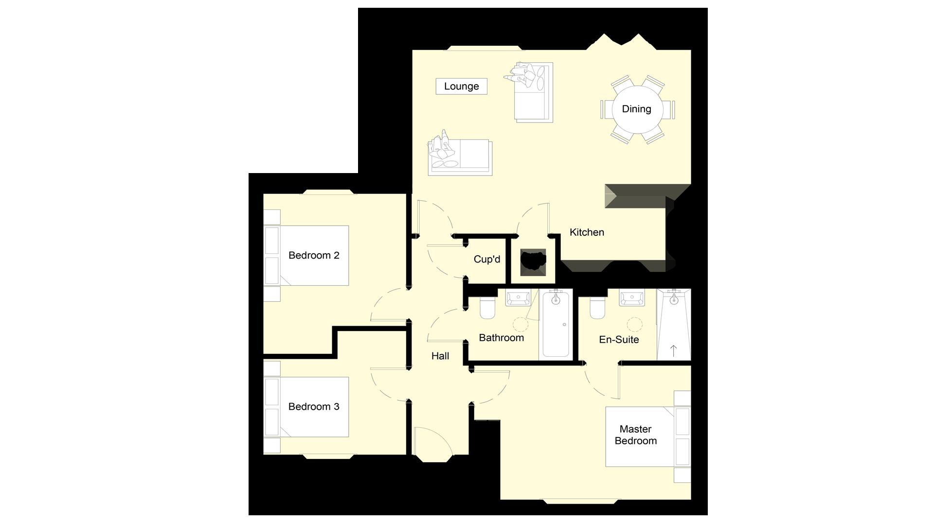 Mulberry Place plot 1 ground floor sales plan