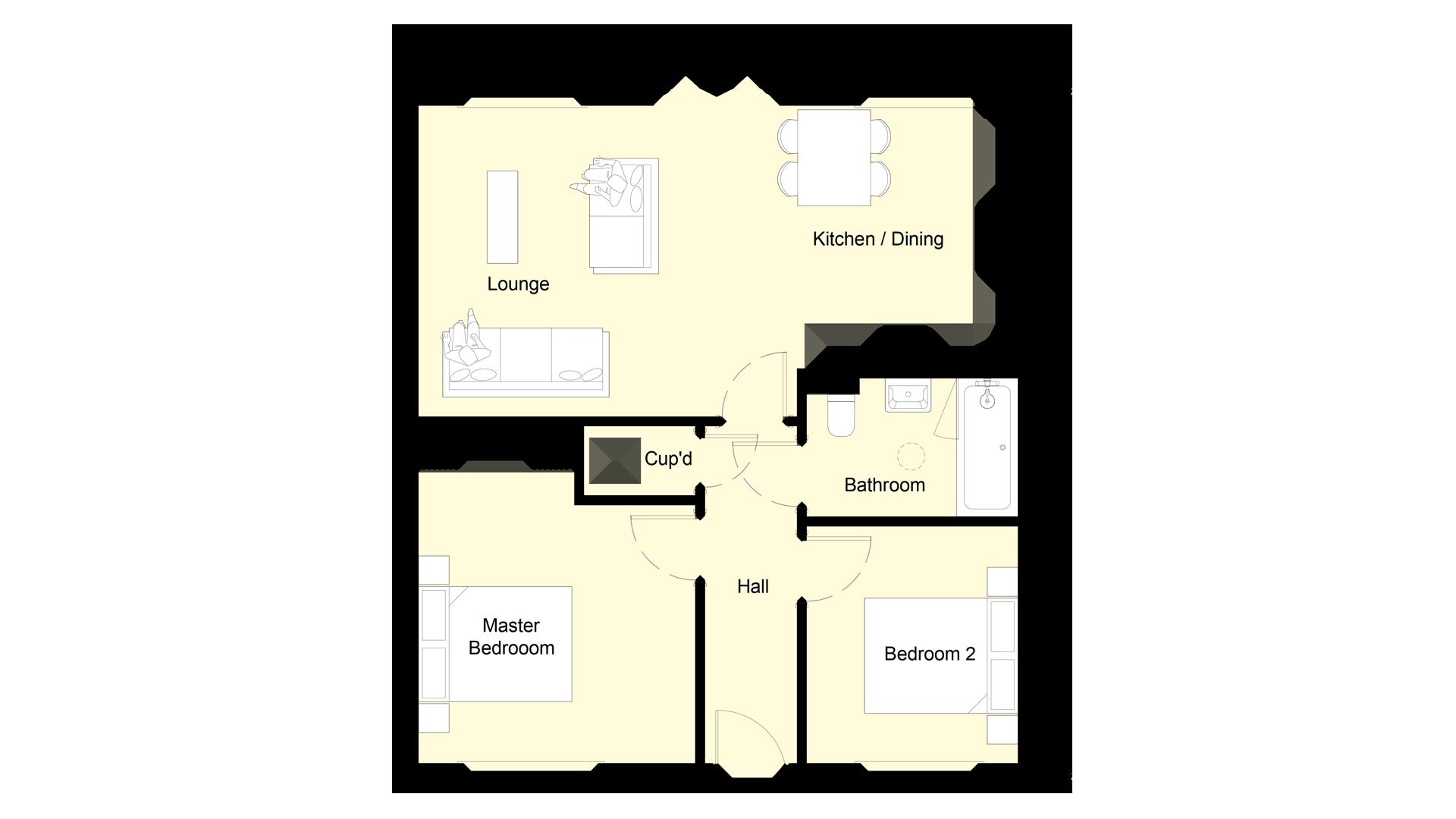 Mulberry Place plot 2 ground floor sales plan