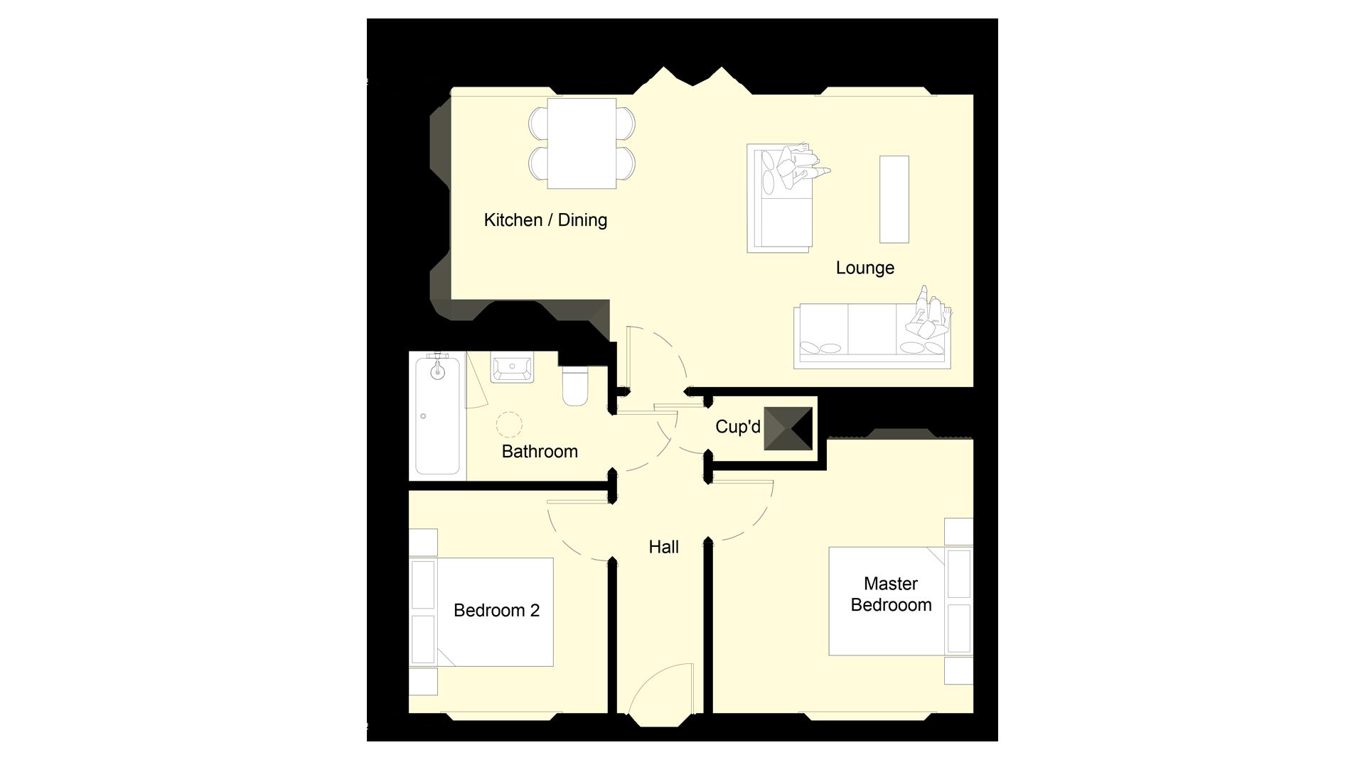 Mulberry Place plot 3 ground floor sales plan