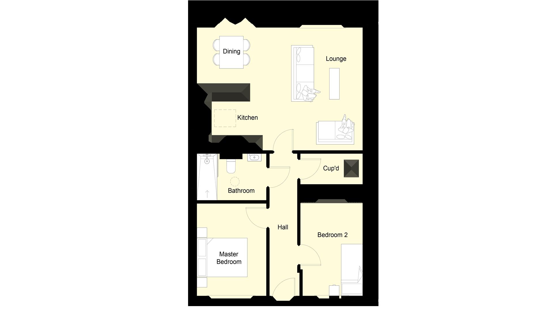 Mulberry Place plot 6 ground floor sales plan