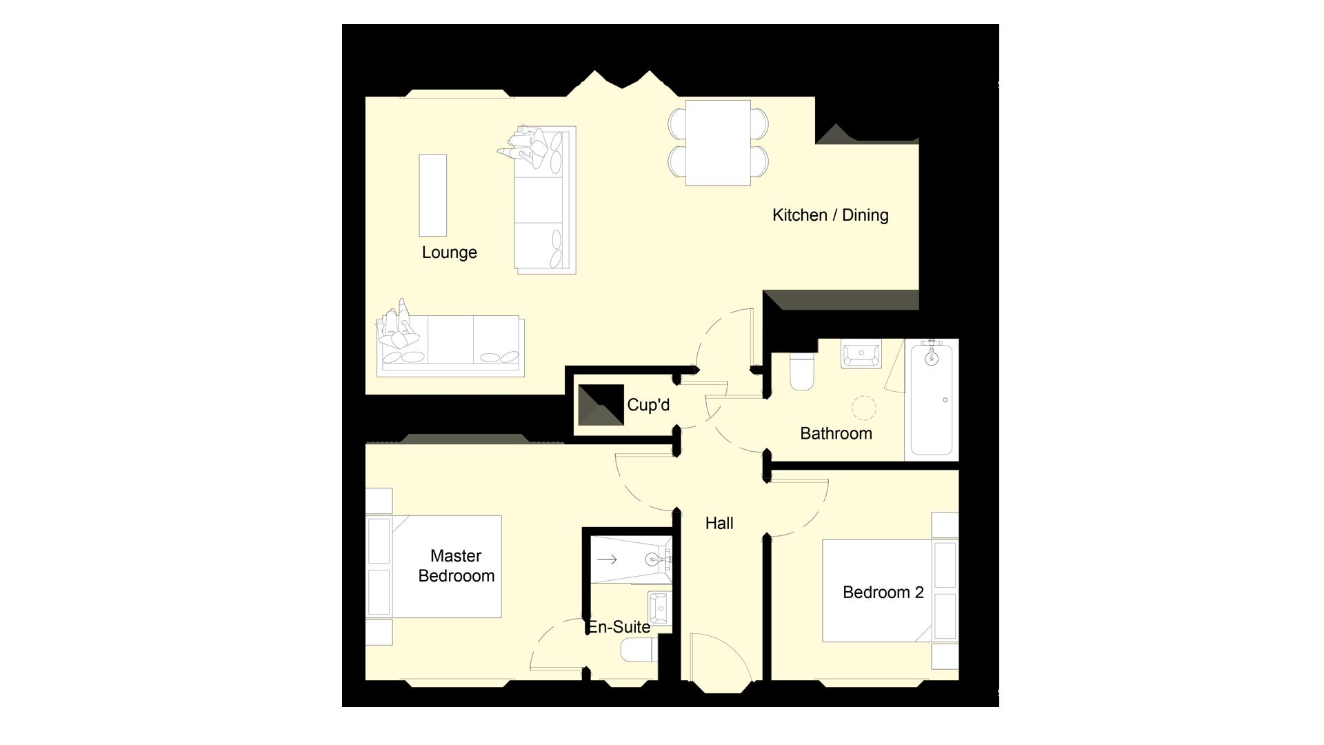 Mulberry Place plot 8 ground floor sales plan