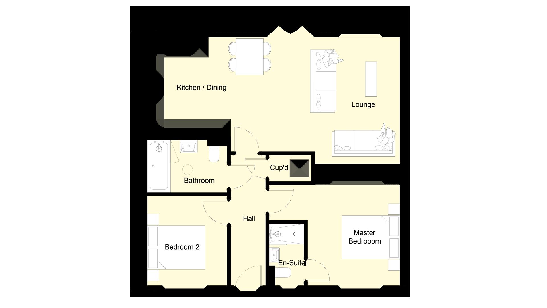 Mulberry Place plot 9 ground floor sales plan