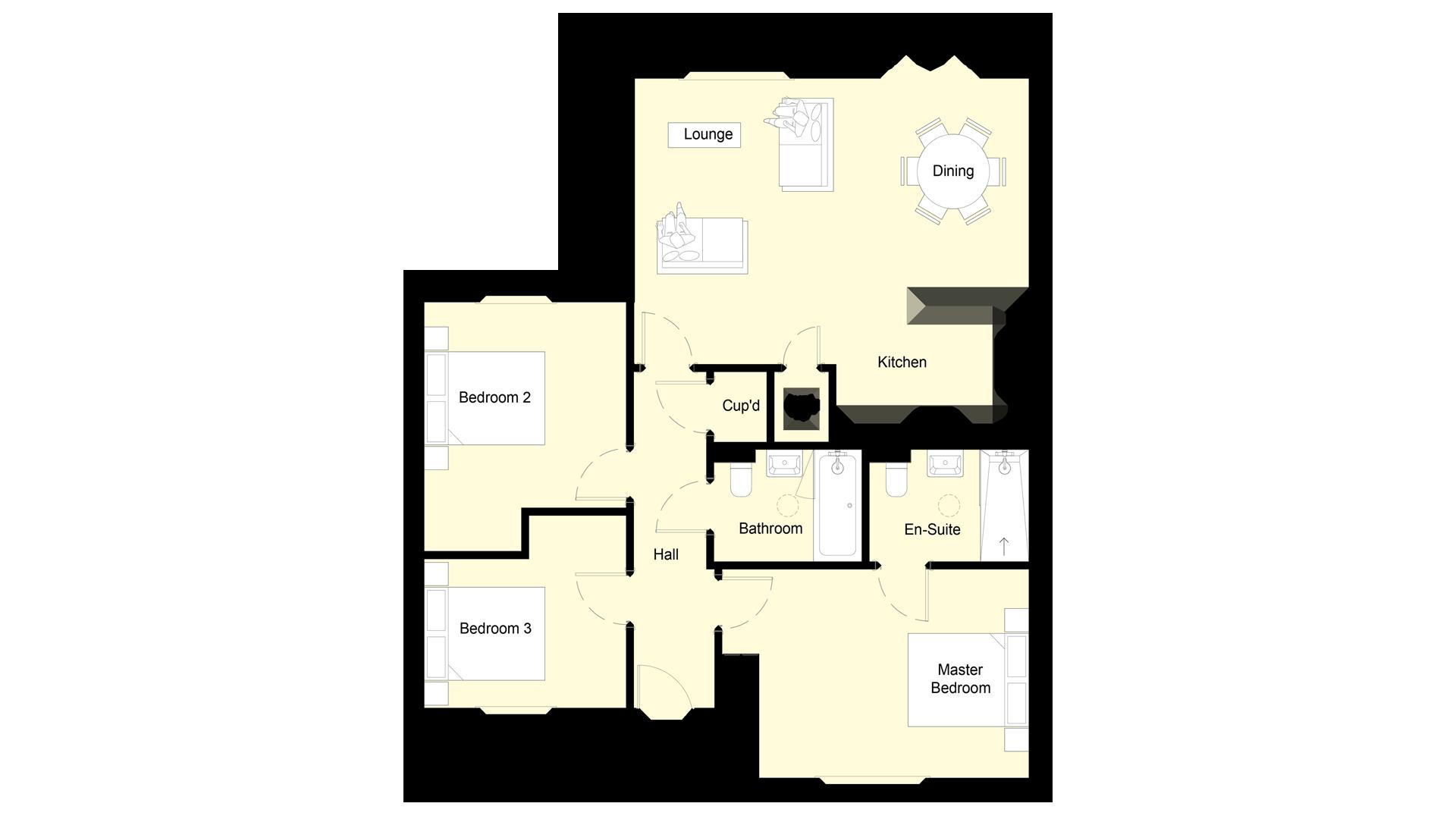 Mulberry Place plot 4 ground floor sales plan