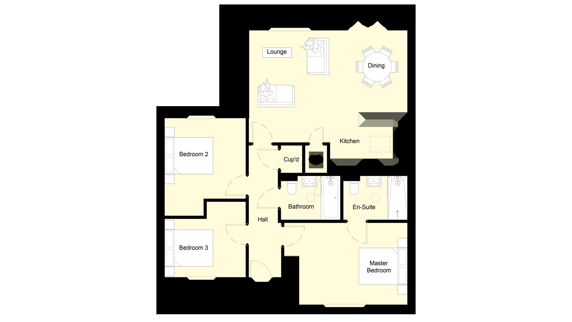 Mulberry Place plot 5 ground floor sales plan