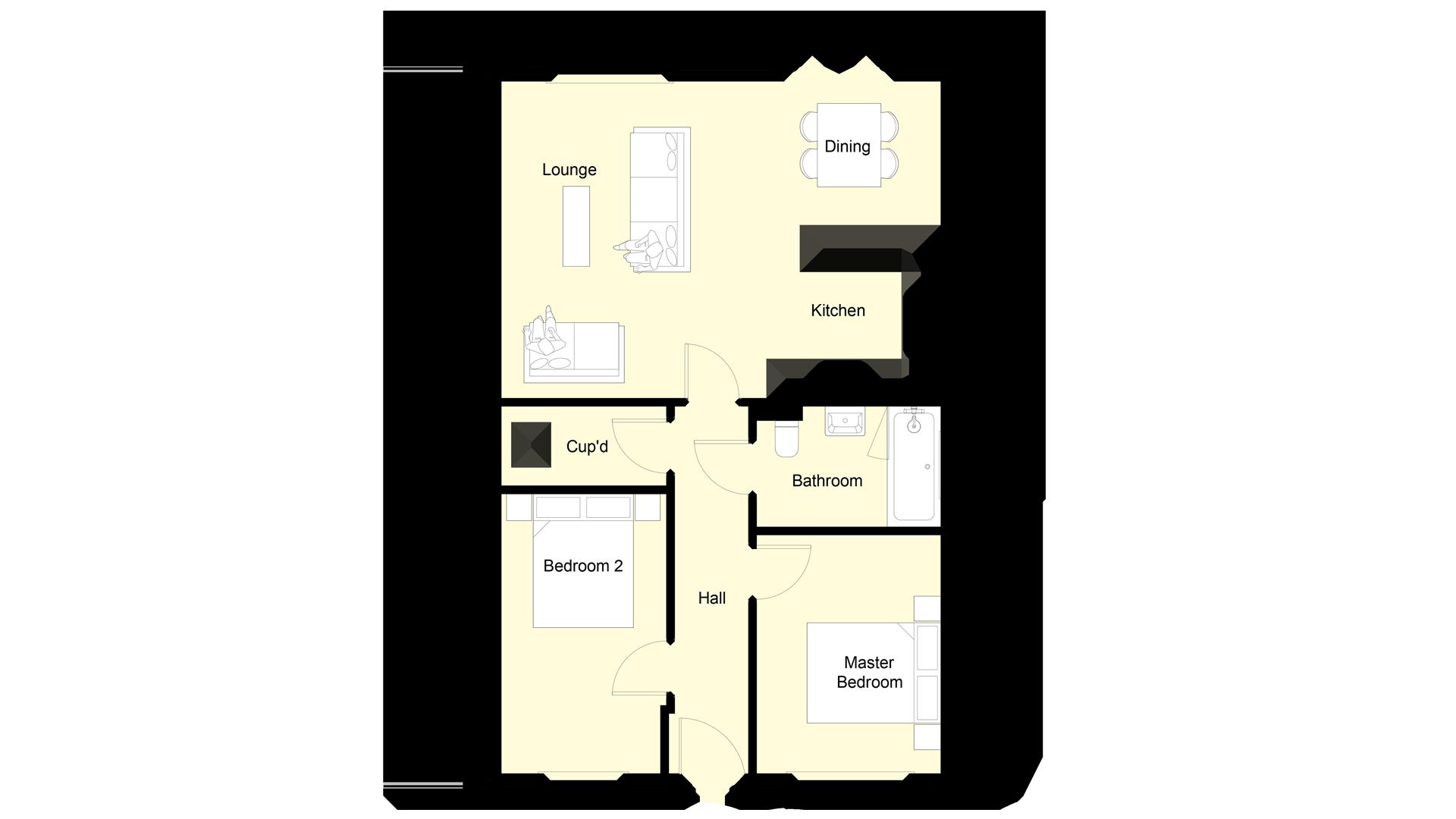 Mulberry Place plot 7 ground floor sales plan