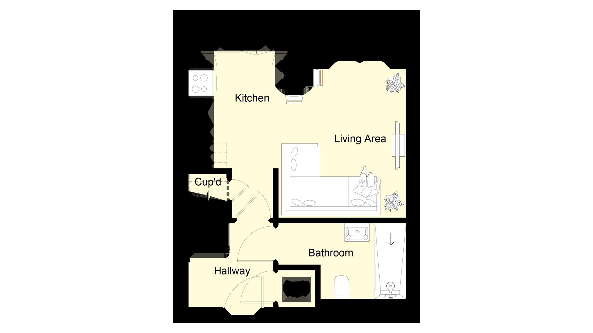 The Hive plot 1 ground floor sales plan