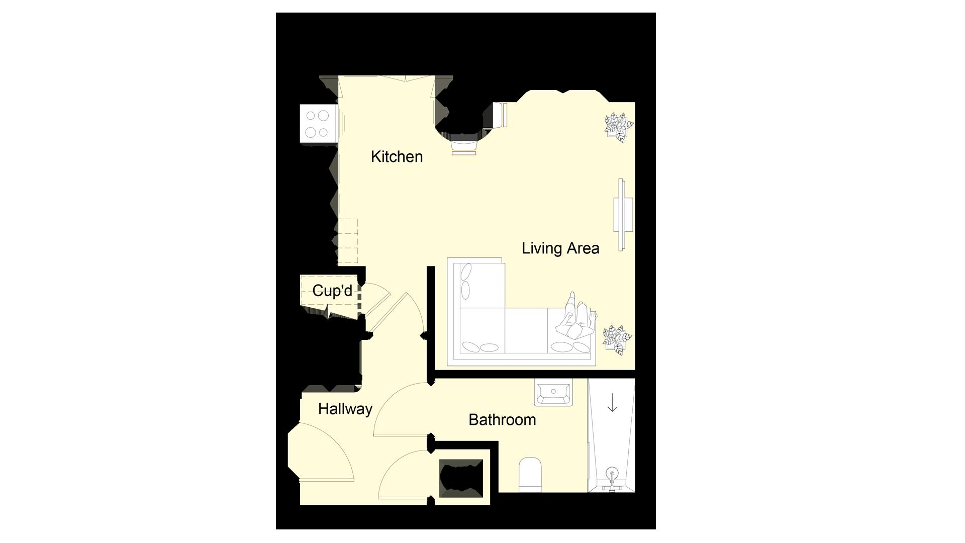 The Hive plot 6 ground floor sales plan