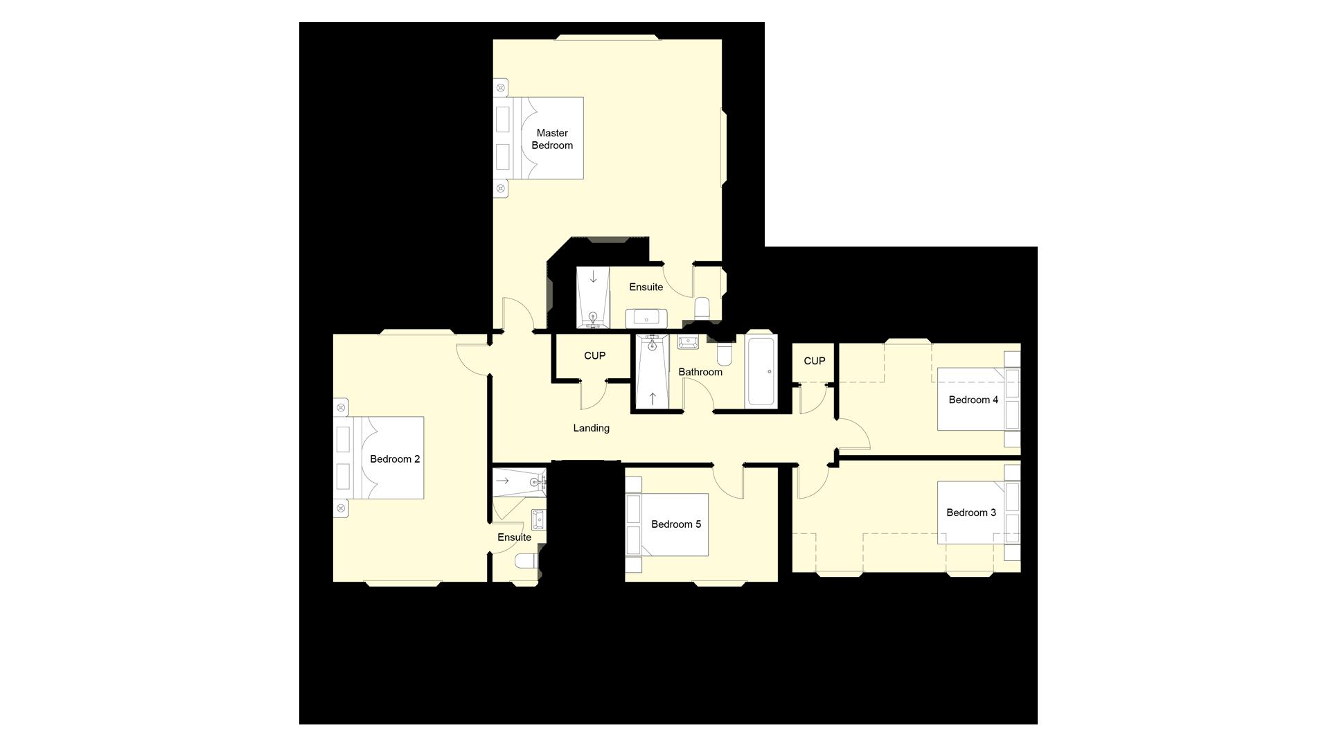 Weavers Park plot 11 first floor sales plan