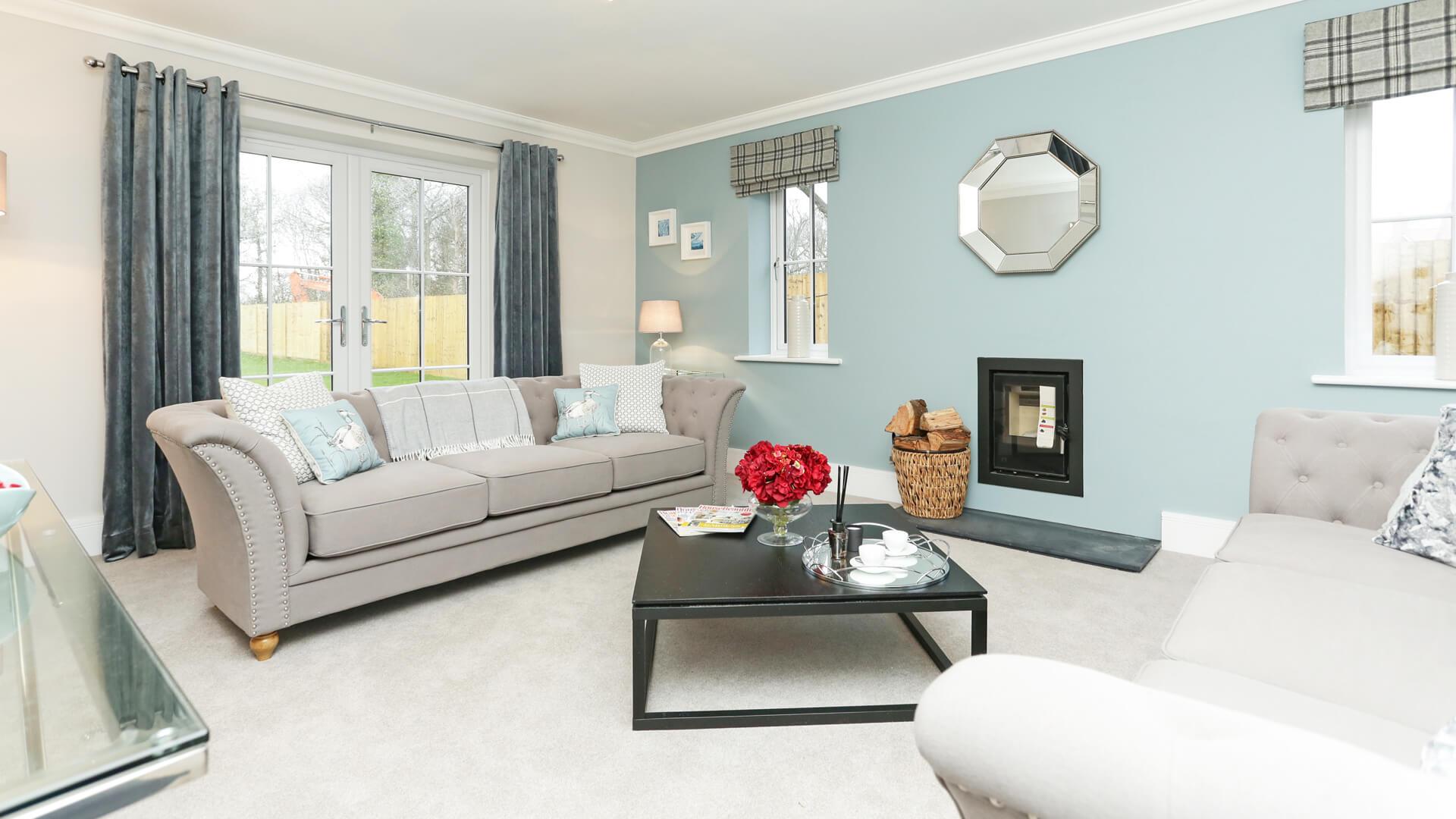 Living room at Plot 8 Weavers park