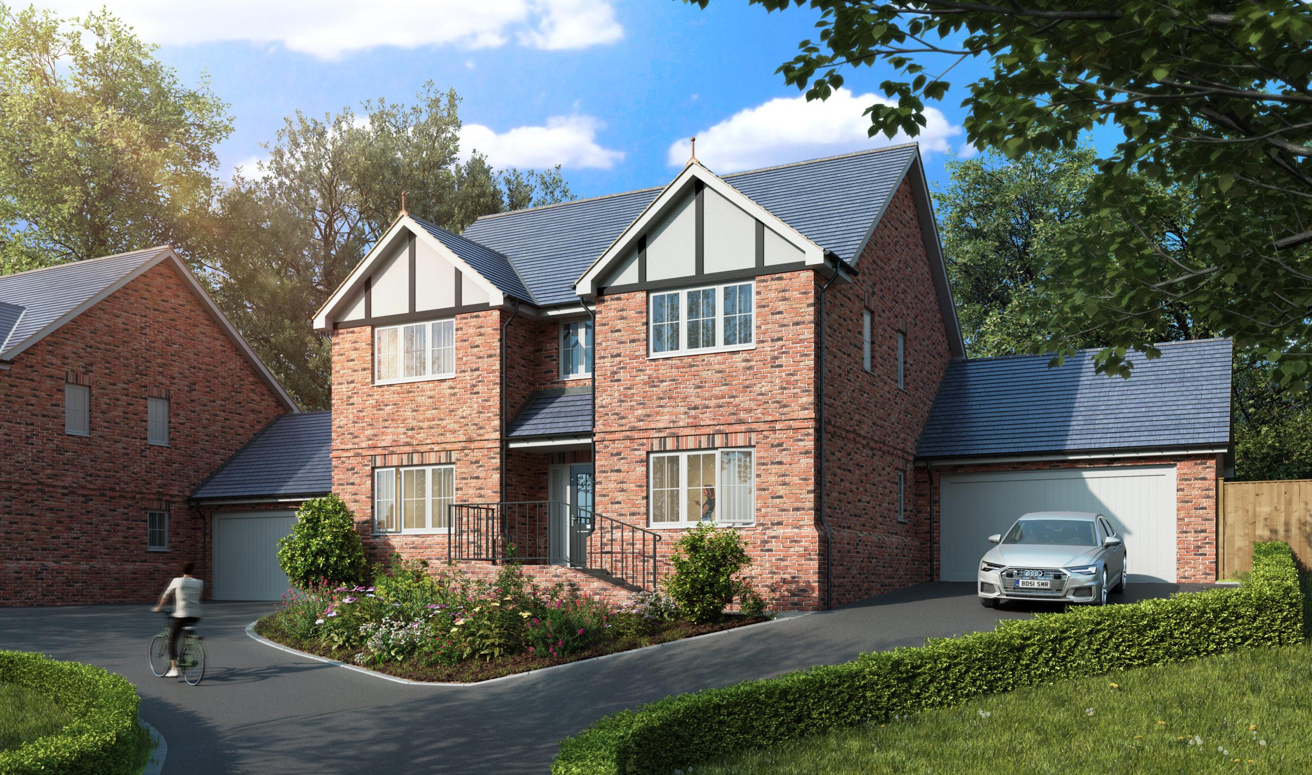 CGI of Oak House Woodland Rise