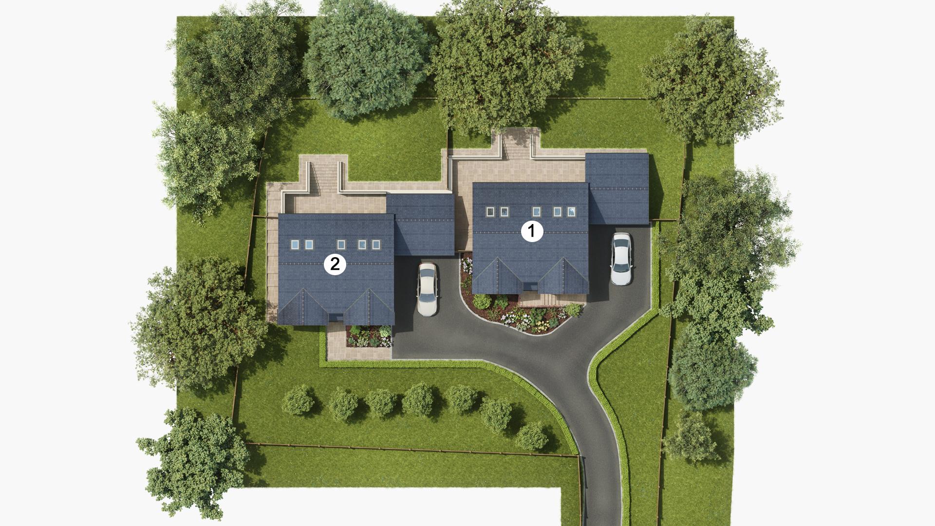 Chestnut View – Plot 2 site plan