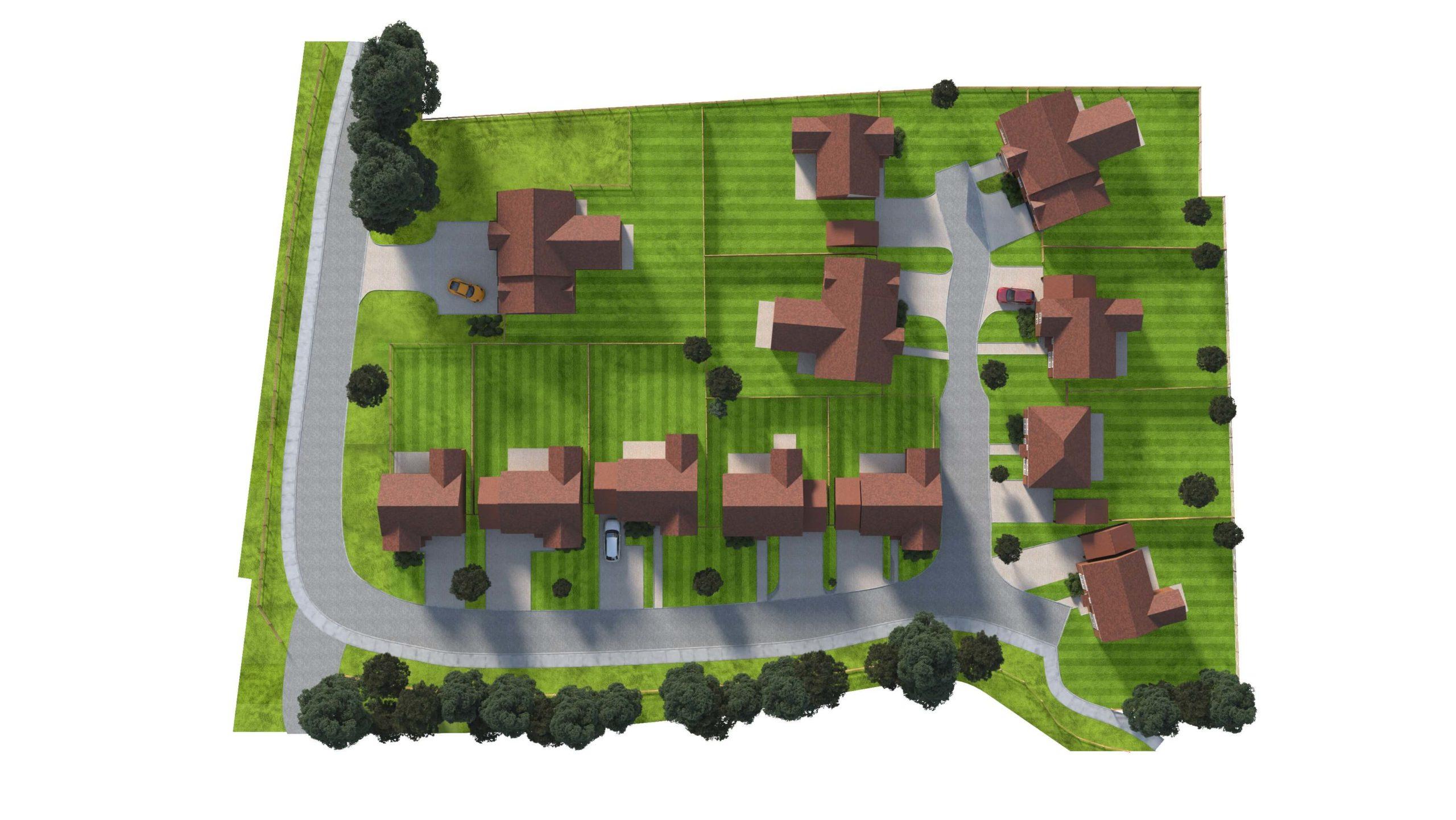 Langton Gardens Aerial View Plan