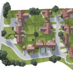 Langton Gardens - Aerial View